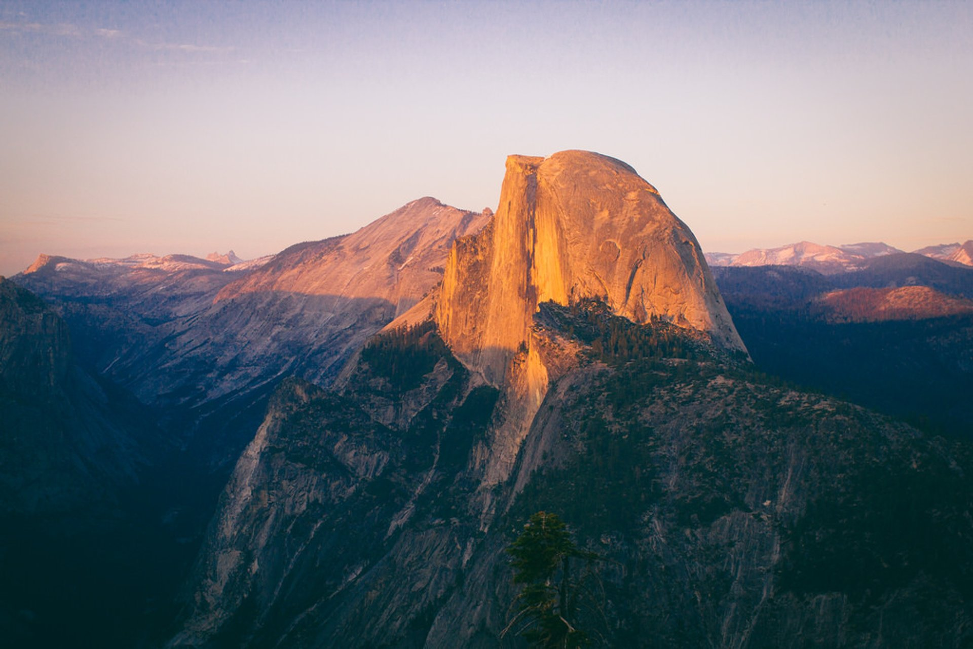 Yosemite Glacier Point Sunset 2020