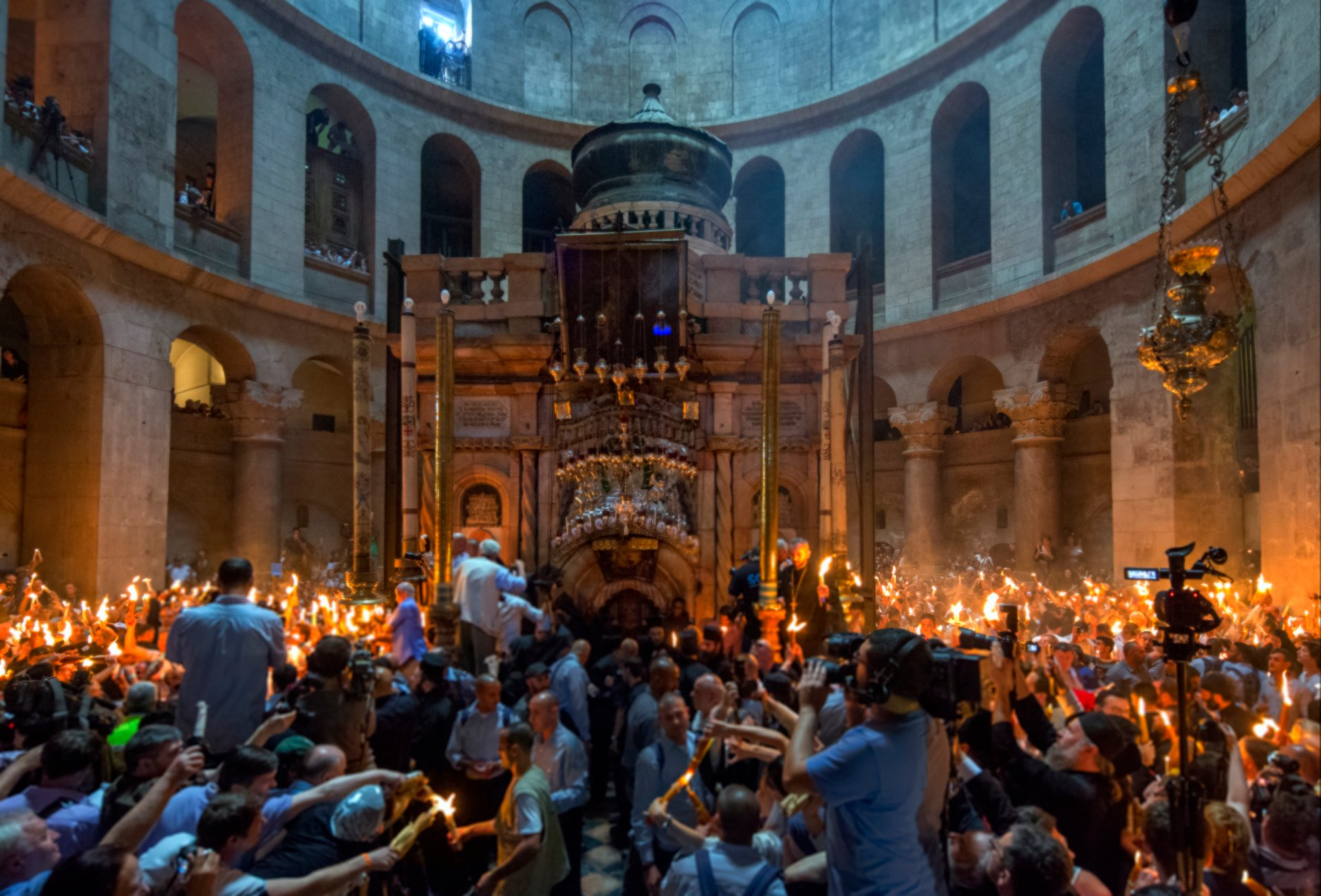 Holy Light Christian Feast Ceremony at the Church of the Holy Sepulchre 2020