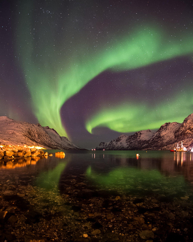 Aurora borealis in Ersfjordbotn