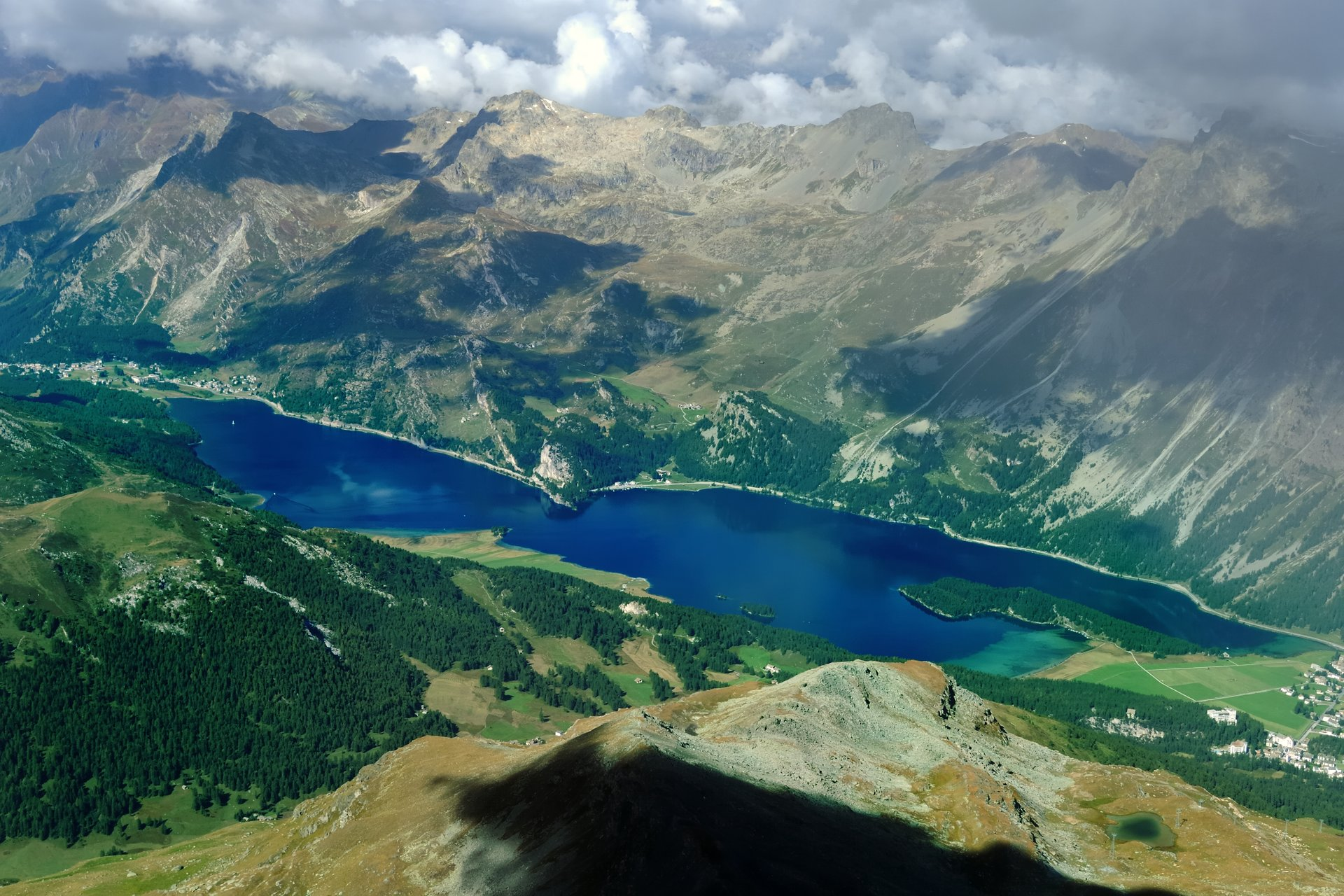 Lake Sils from Piz Corvatsch 2019