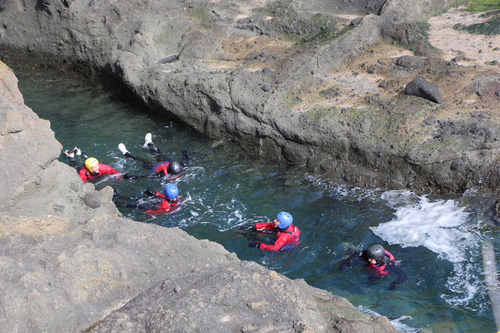 Coasteering at the Elie Chain Walk in Fife 2020