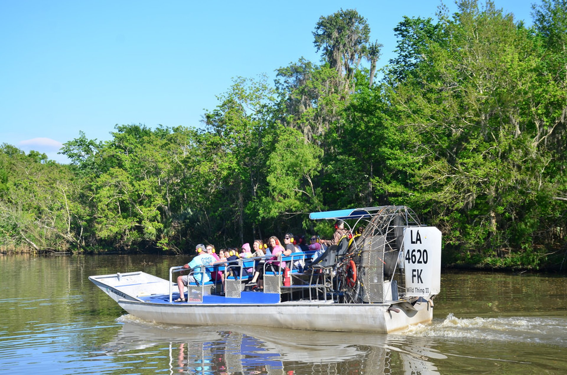 Airboat in Jean Lafitte National Historical Park near Barataria 2020