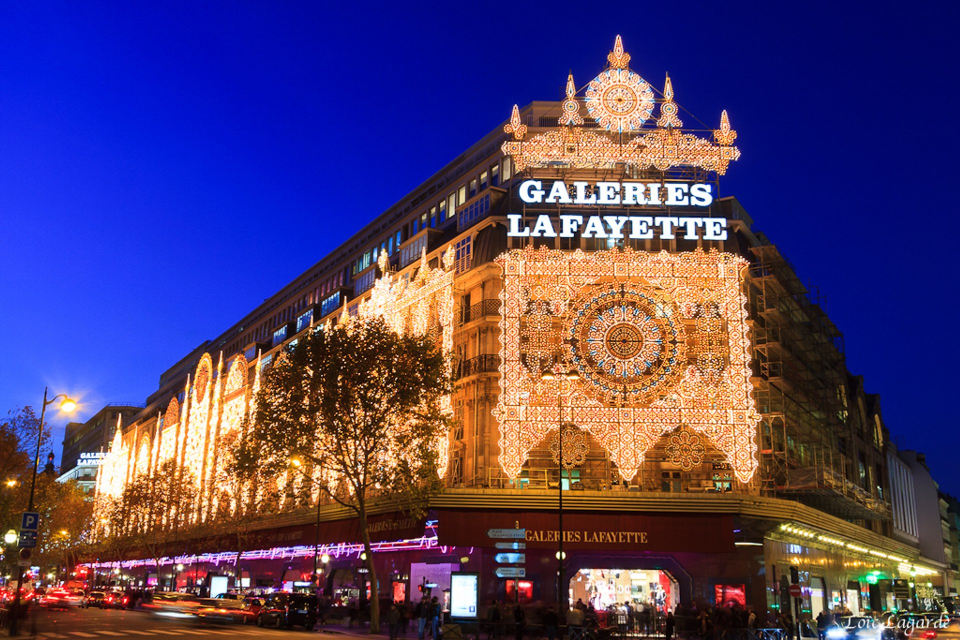 Best time for Terrace of the Galeries Lafayette in Paris 2020