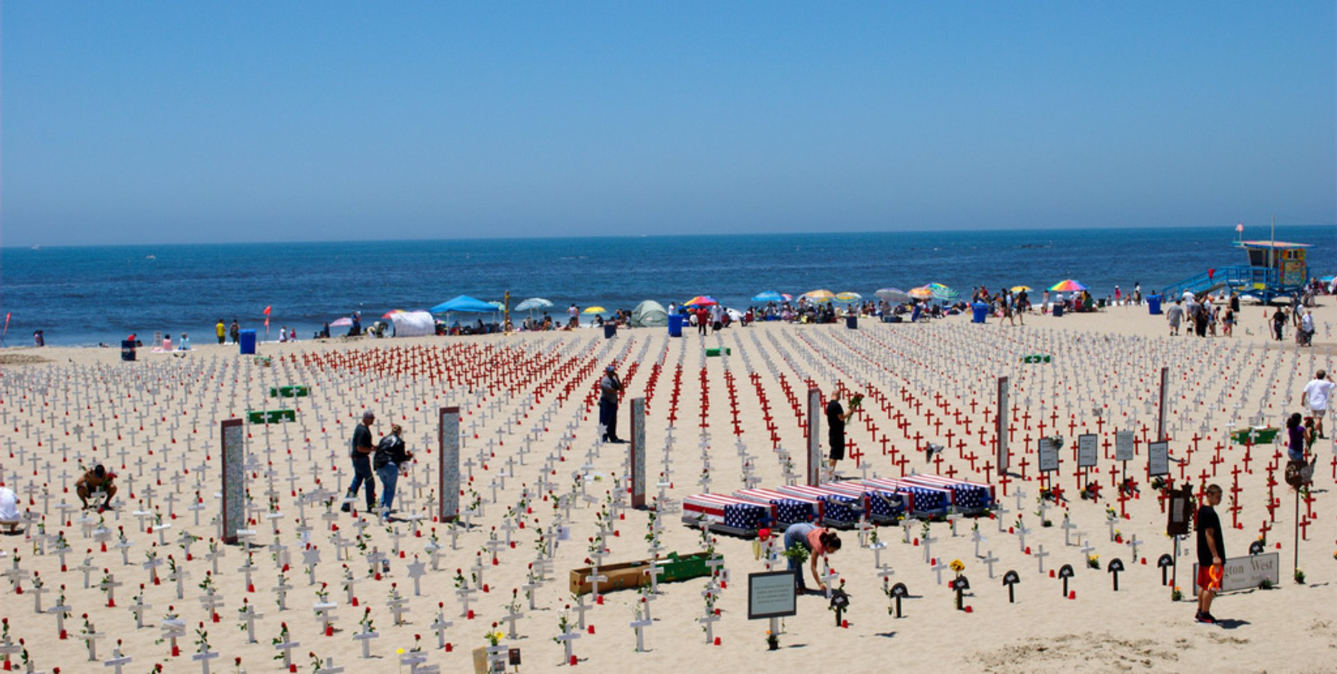Memorial day on Santa Monica beach 2019
