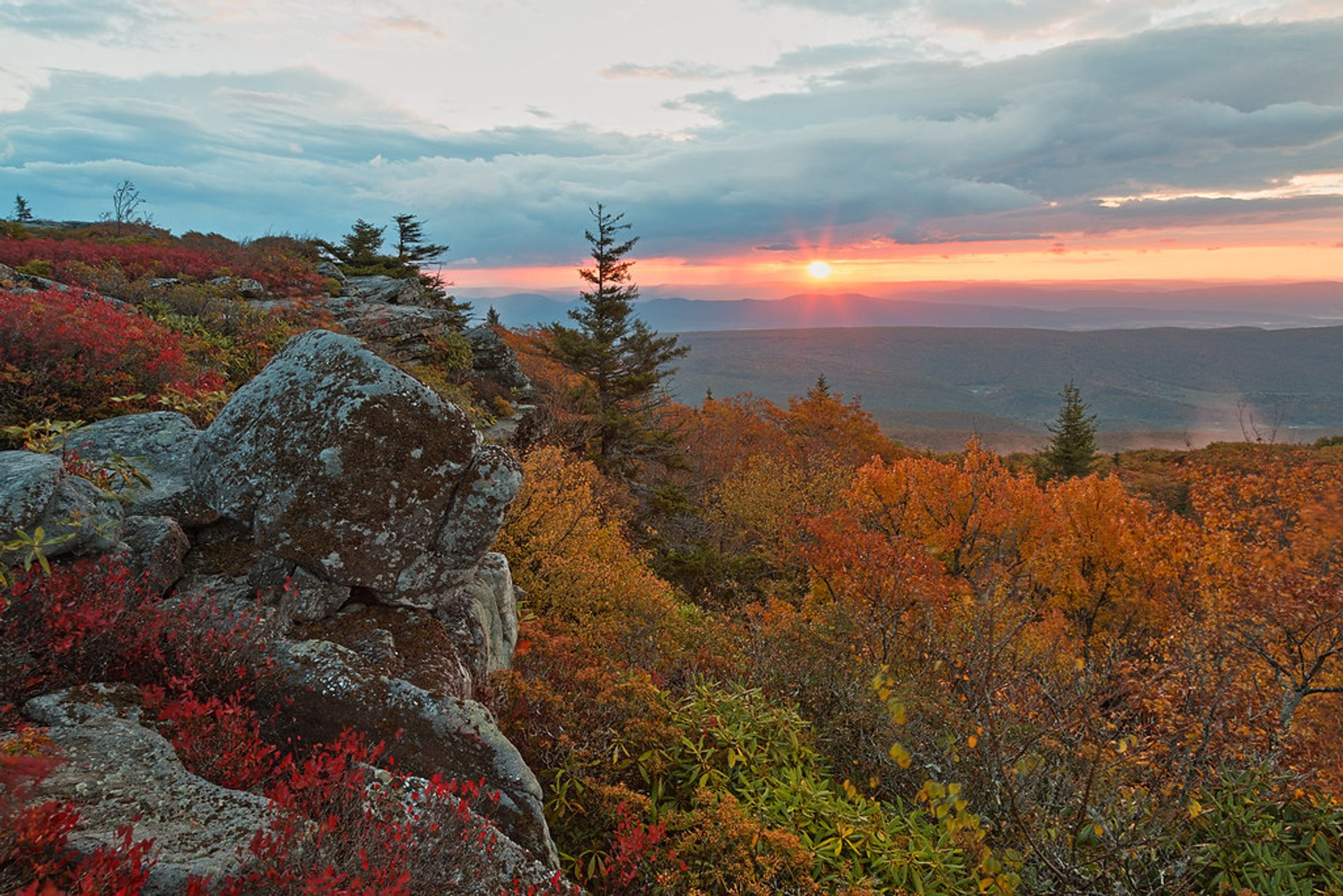 Sunrise from the Bear Rocks area of the Dolly Sods Wilderness 2020