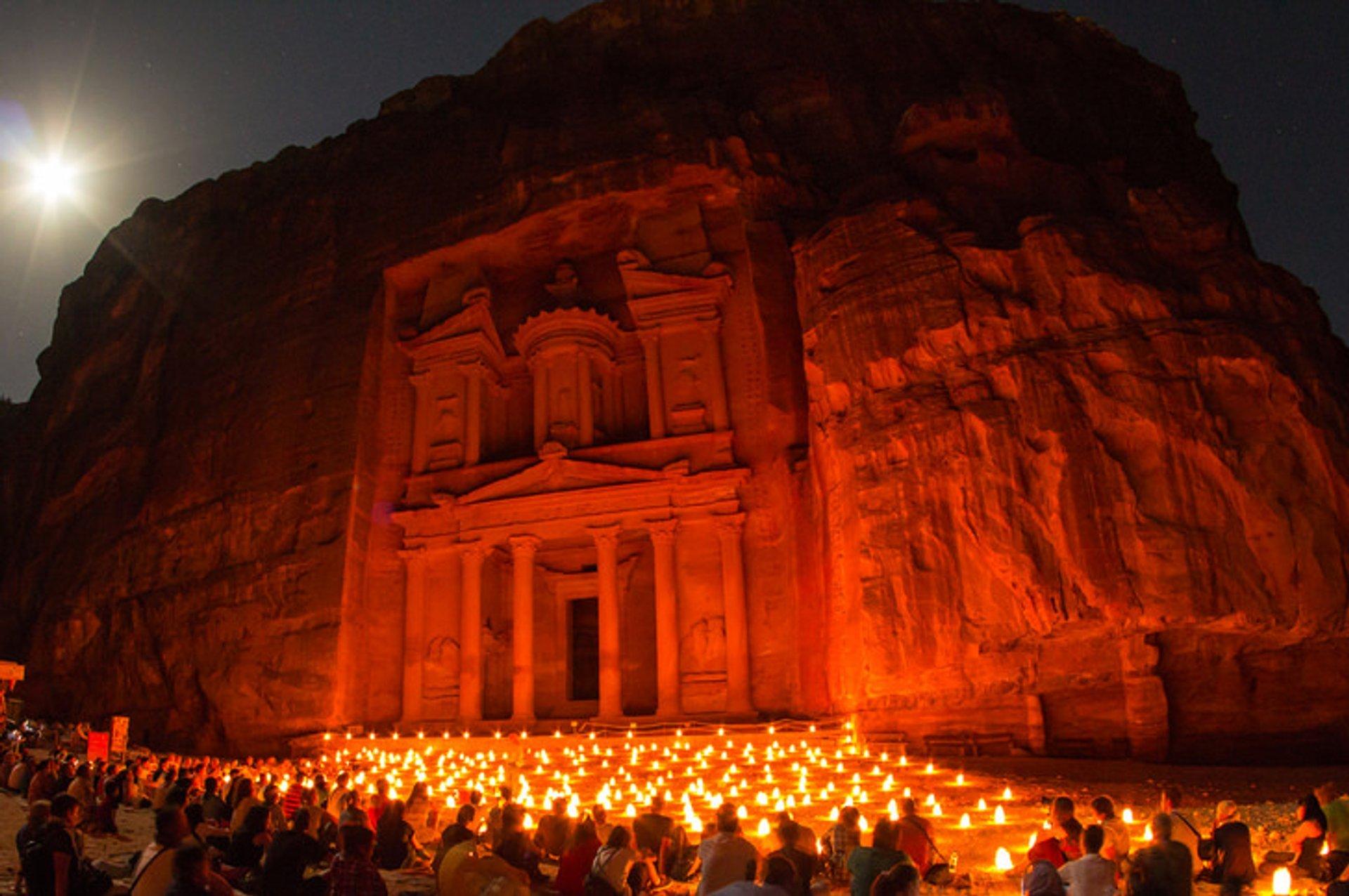 """Khazneh"" Petra by night, Jordan 2019"