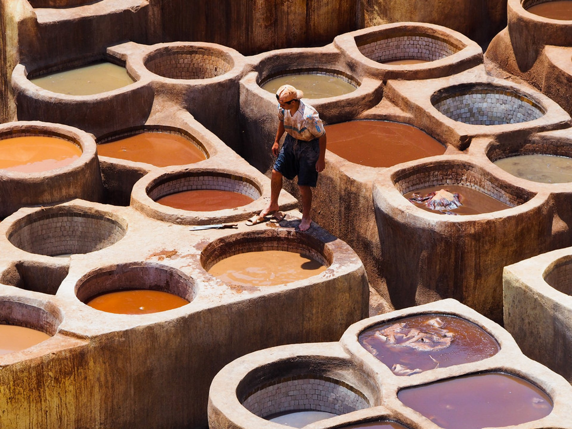 Best time for Fes Tanneries in Morocco 2020