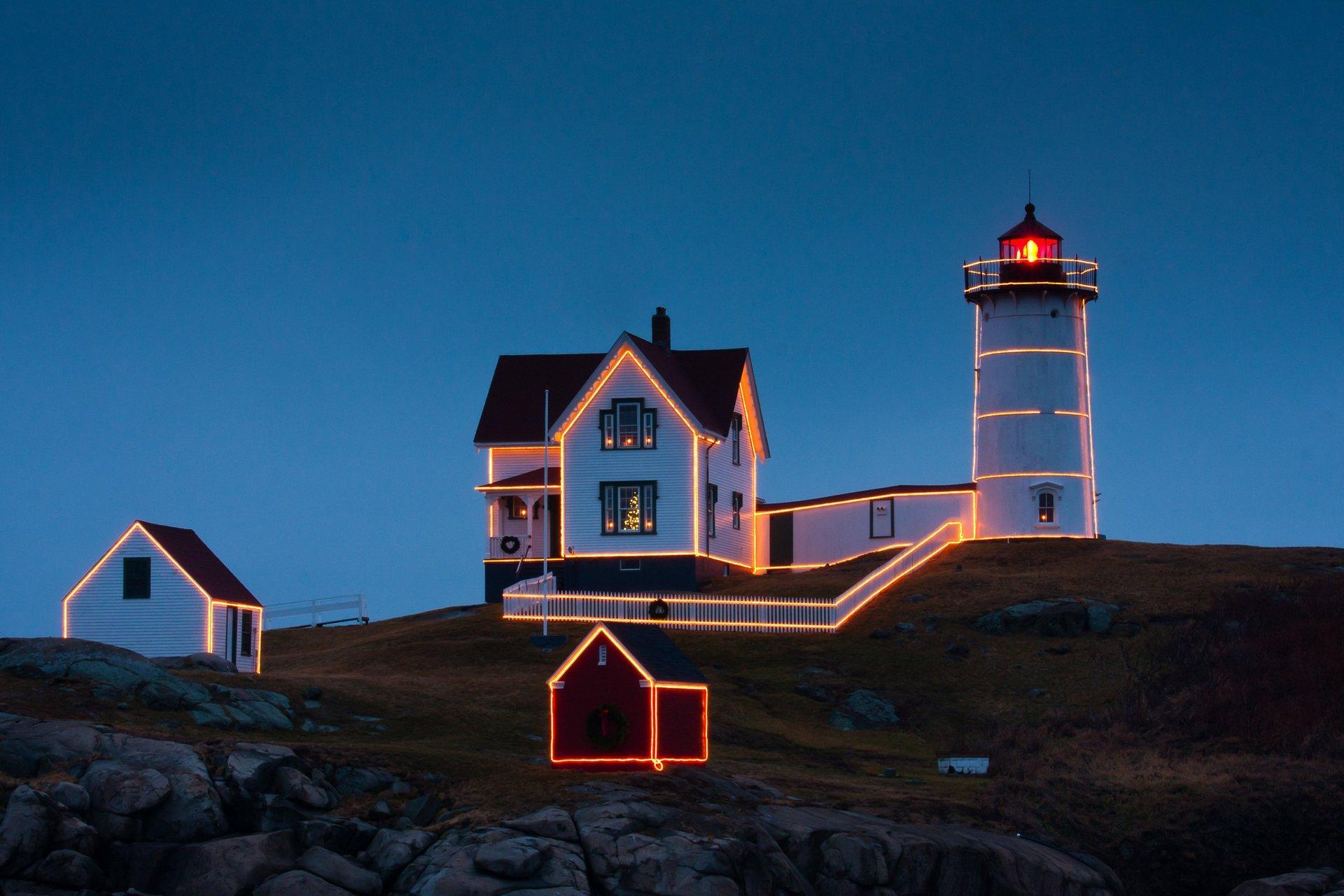 Christmas Nubble Lighthouse 2020