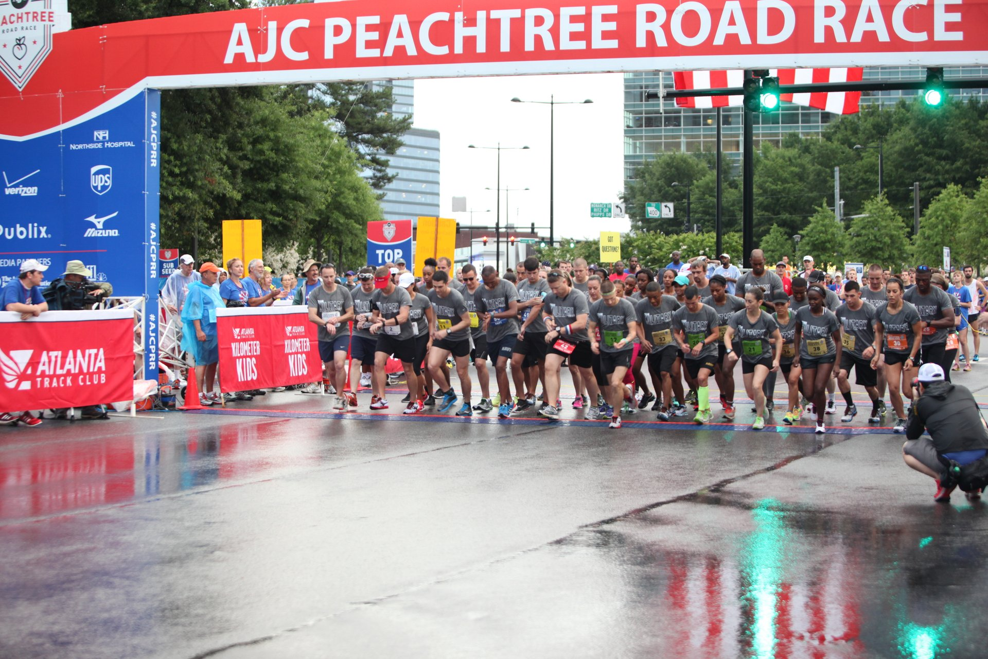 Peachtree Road Race Start 2020