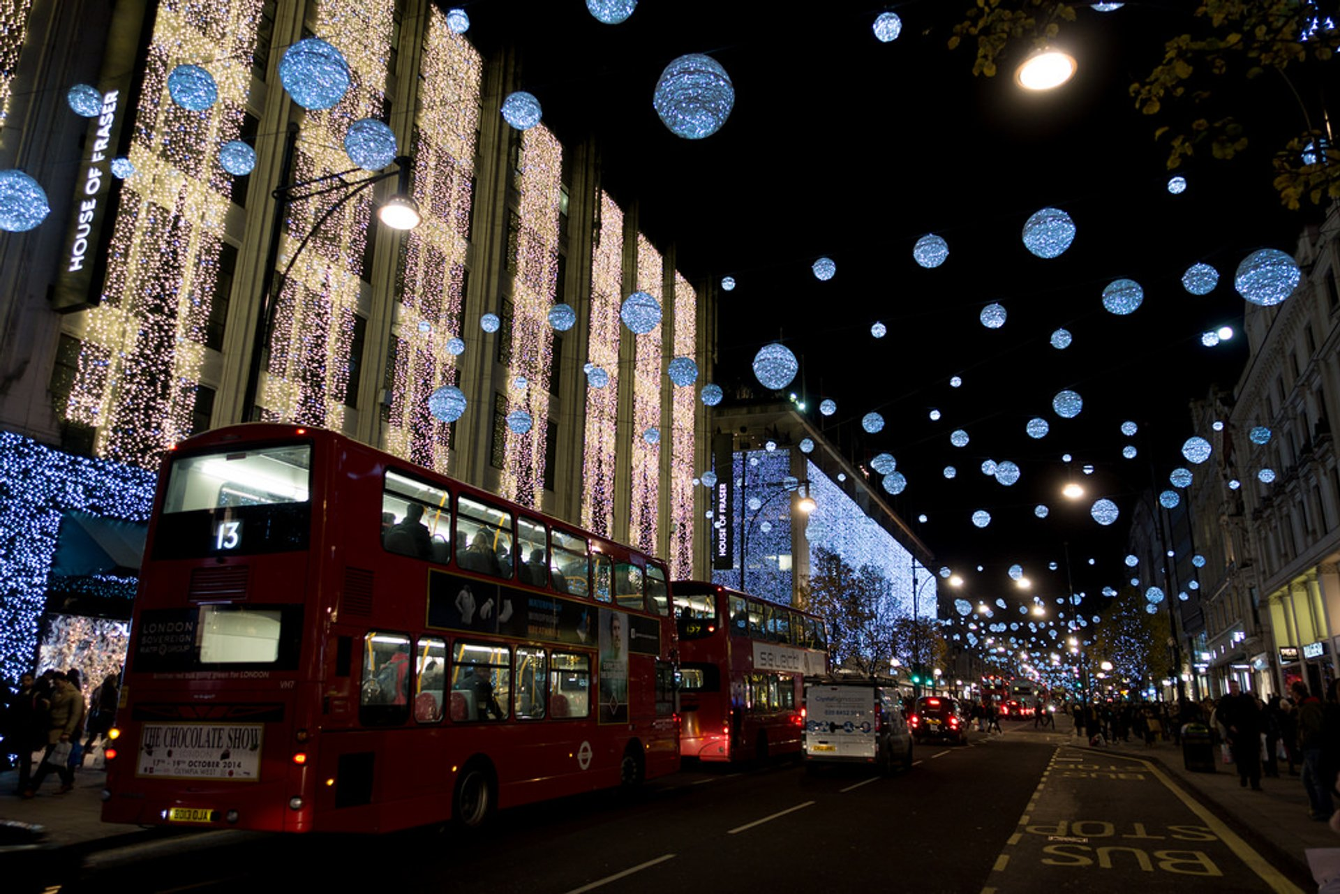 Oxford Street at Christmas 2020