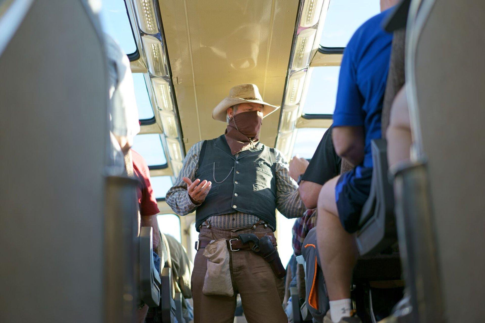 Cowboys on train 2020