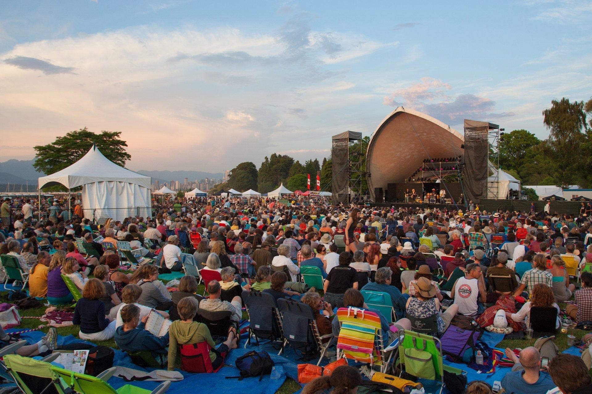 Best time for Vancouver Folk Music Festival