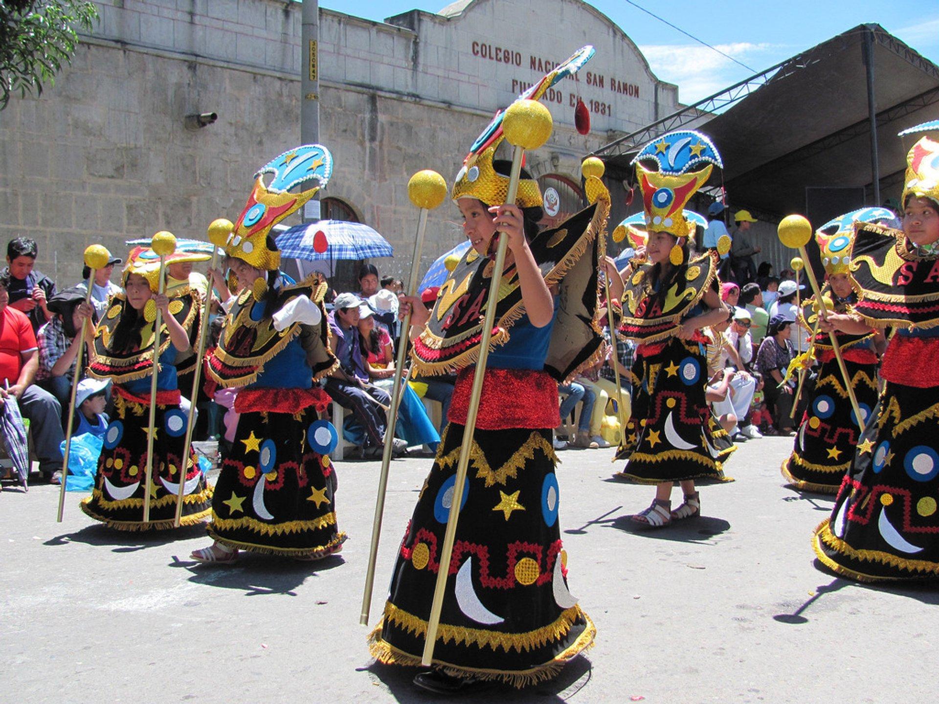 Carnavales en Cajamarca, Peru 2020