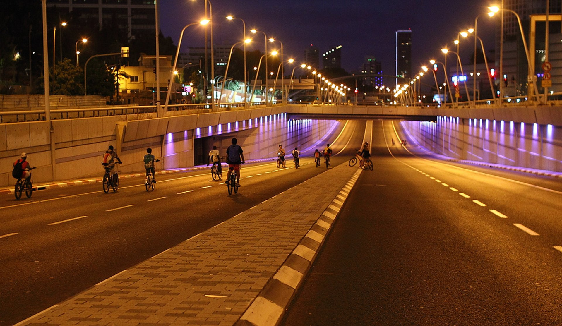 Early riders in Tel Aviv, Israel 2020