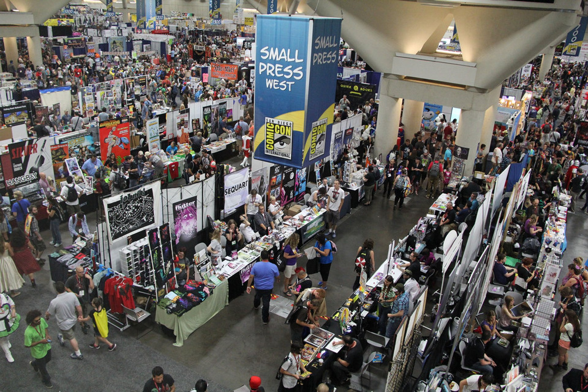 The Small Press section of the Exhibit Hall 2020