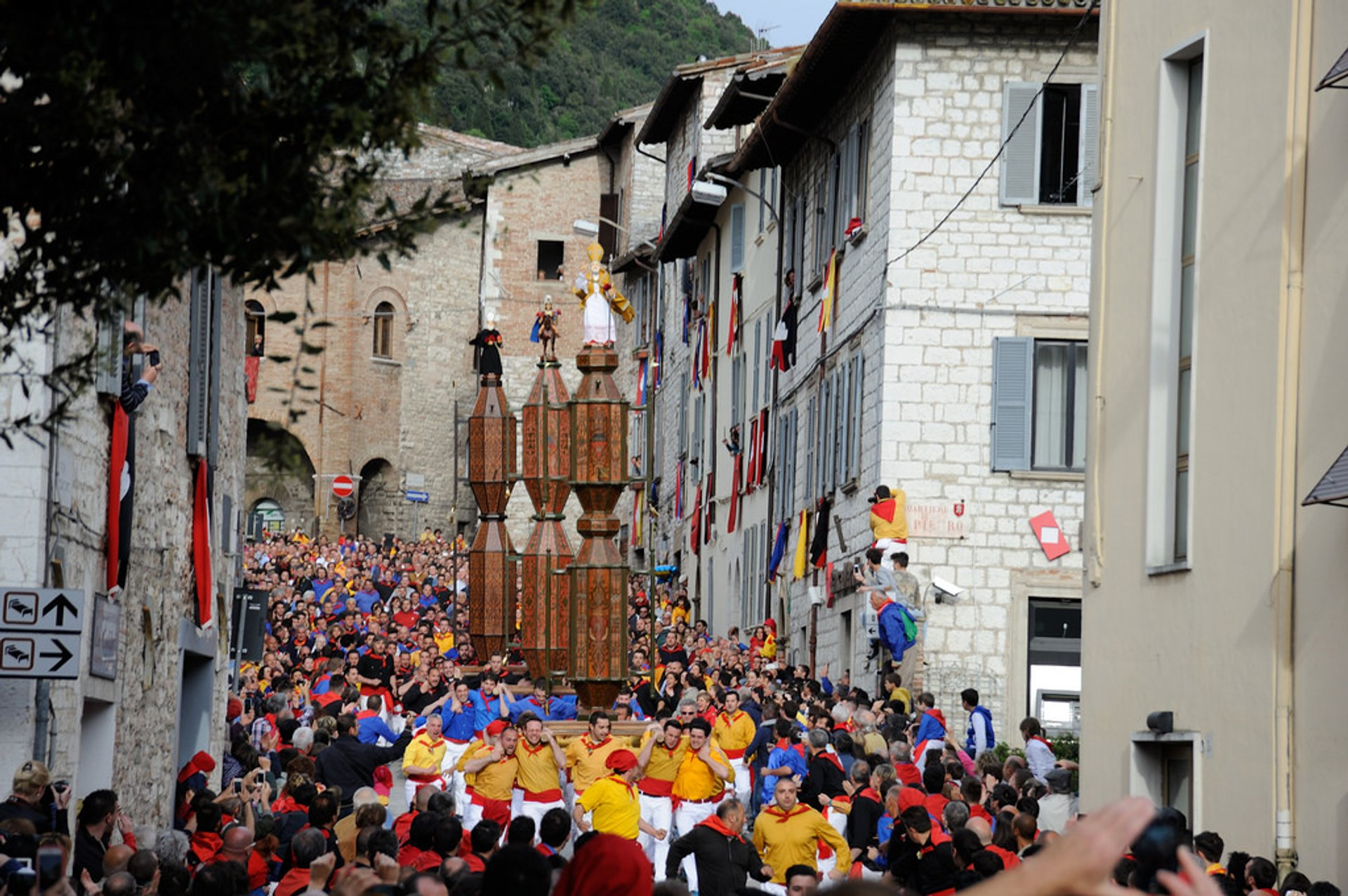 Gubbio Festa dei Ceri (Race of the Candles) in Italy 2020 - Best Time