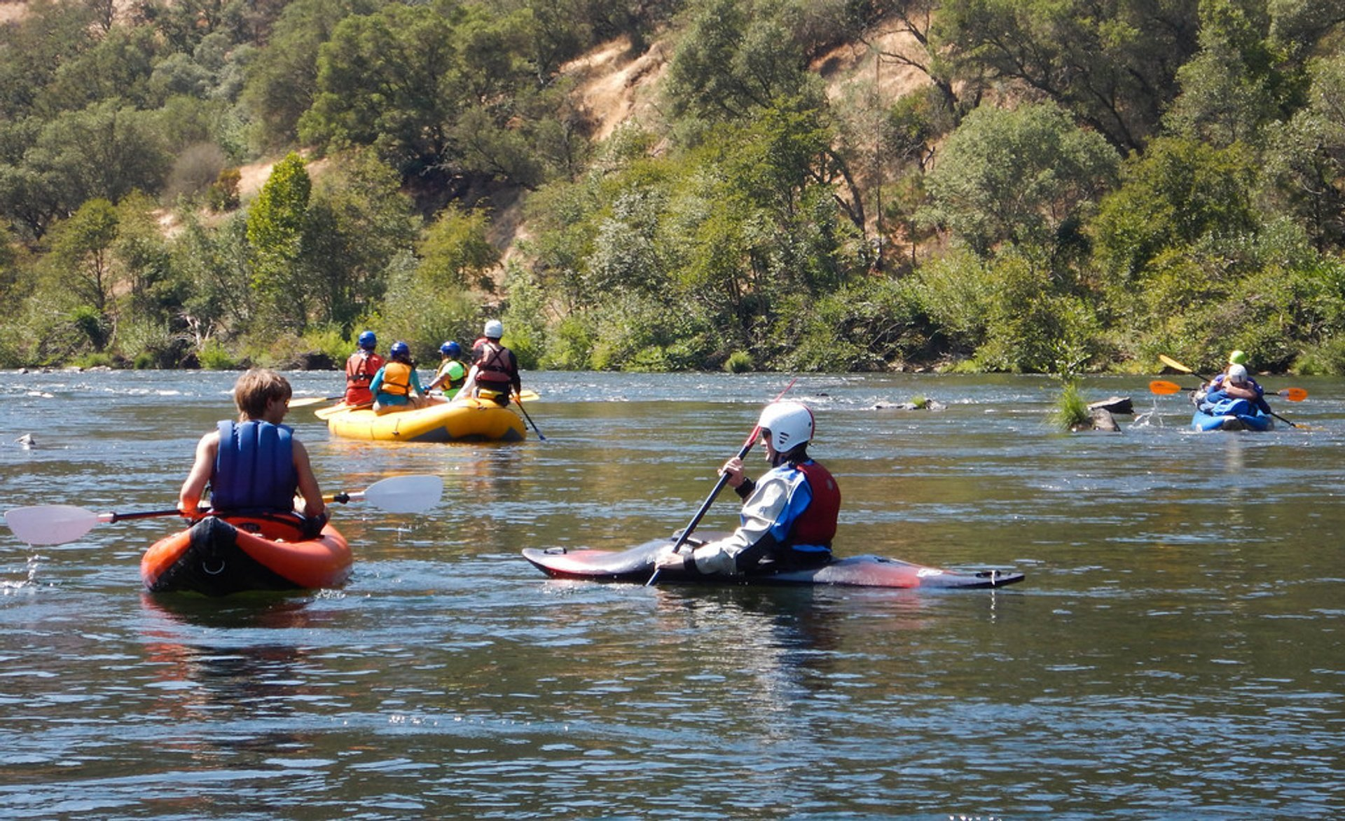 Best time for Rafting in California 2019