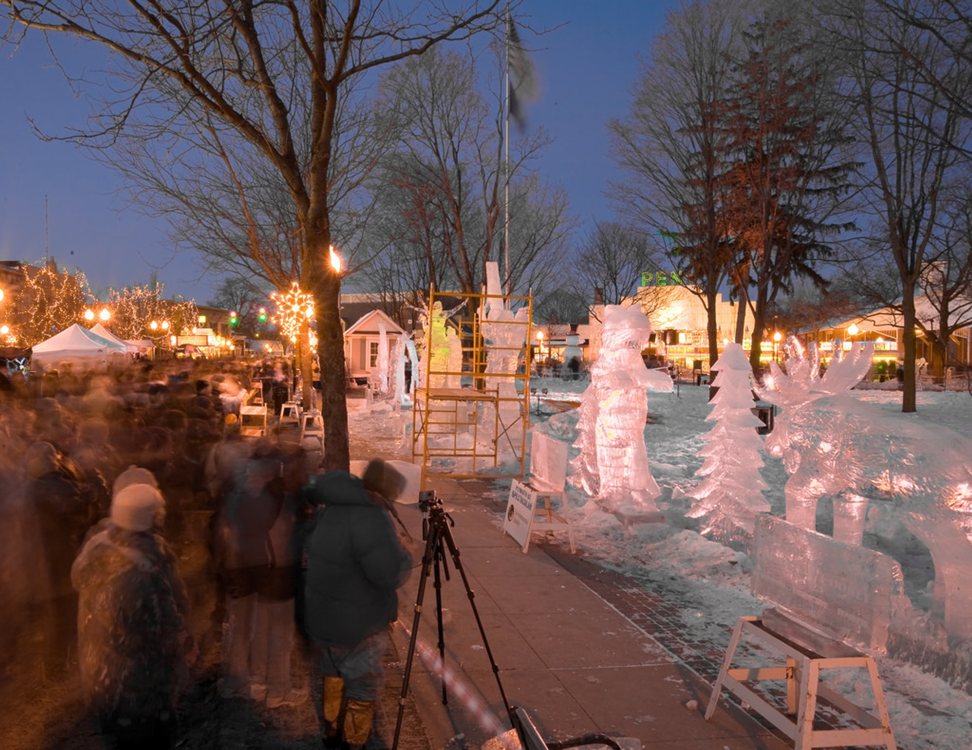Best time to see Plymouth Ice Festival in Midwest 2020