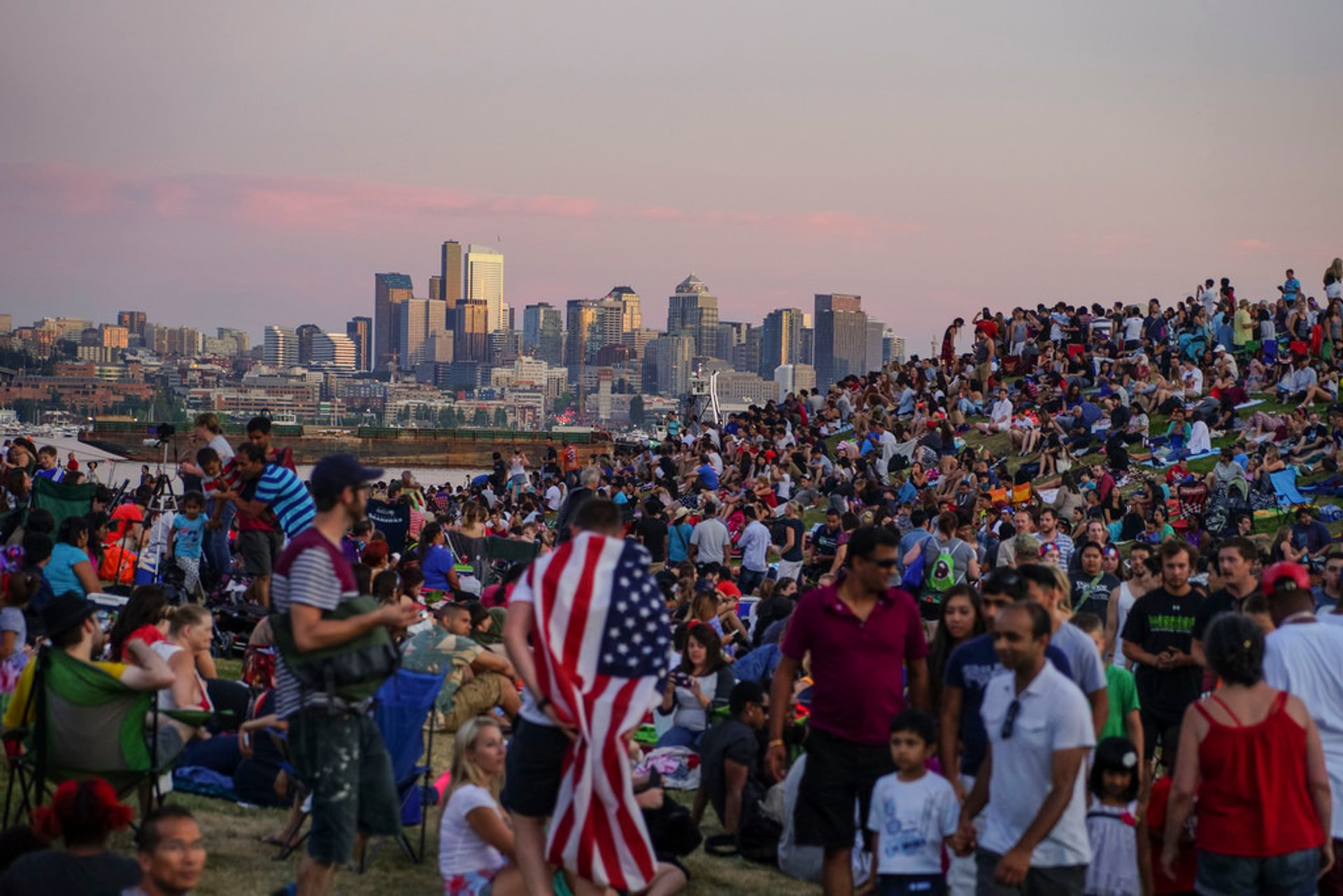 4th of July celebrations at Gas Works and Lake Union Park 2020