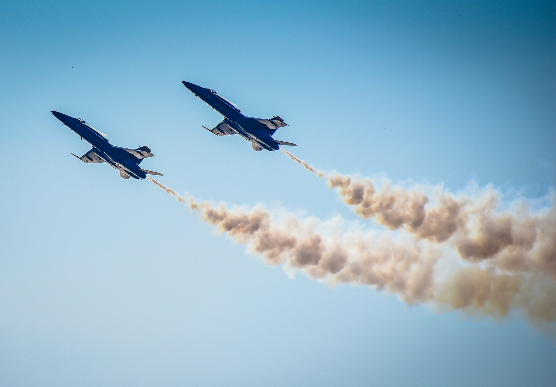 US Navy Blue Angels at Maryland Fleet Week and Air Show at Fort McHenry Baltimore MD 2020