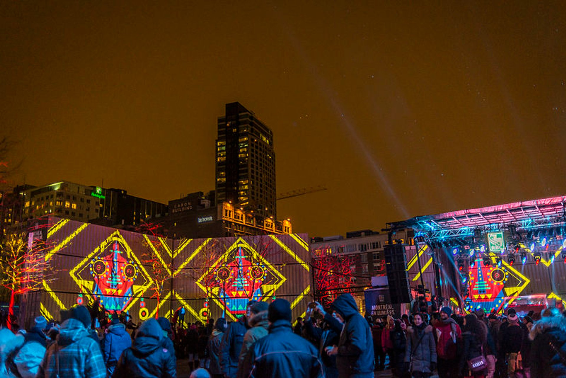 Best time to see Montréal en Lumière in Montreal 2019