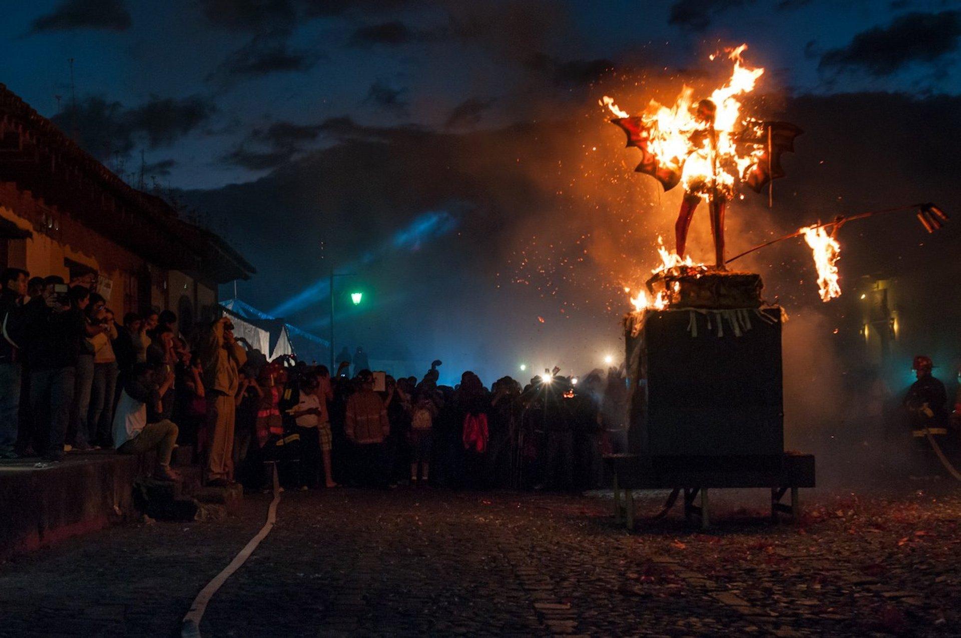 Quema del Diablo or Burning the Devil in Guatemala - Best Season