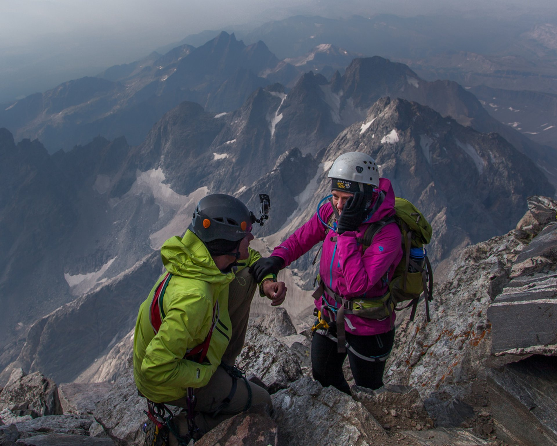 This is on top of the Grand Teton in Wyoming 2020