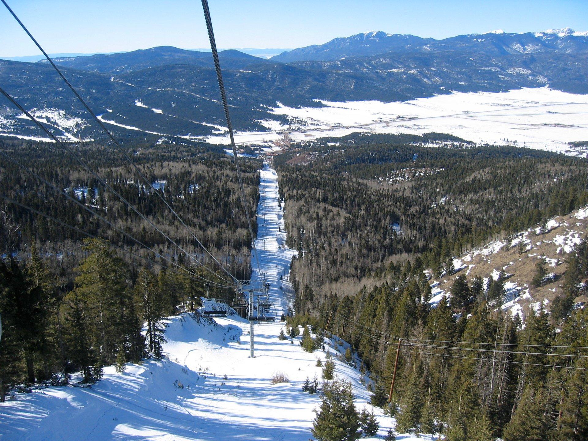 The 2K foot high ski lift @ Angel Fire 2020