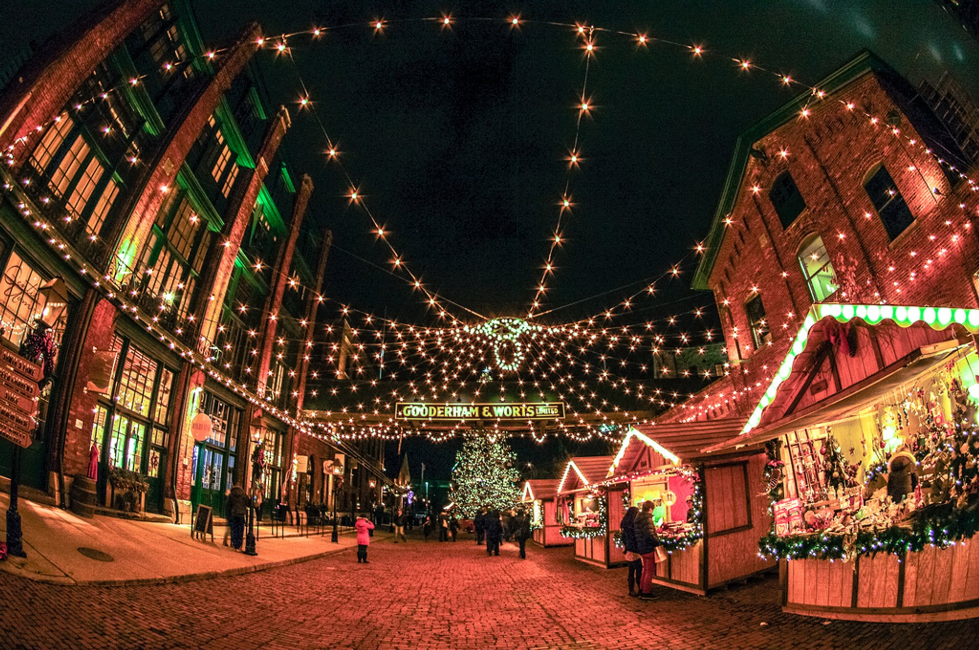 Christmas Market at the Distillery District in Toronto 2019