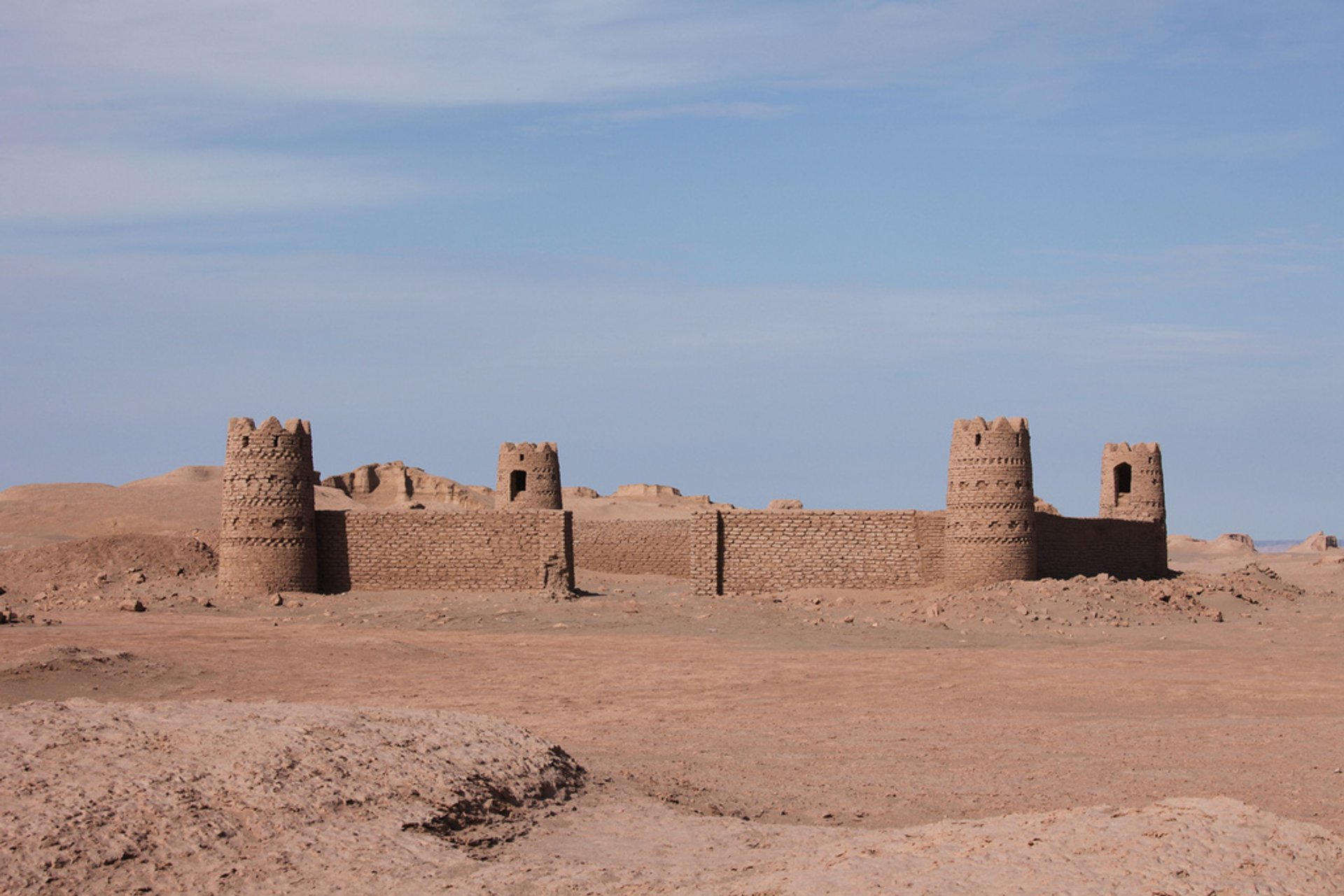 Caravanserai in the desert Dasht-e Lut 2020
