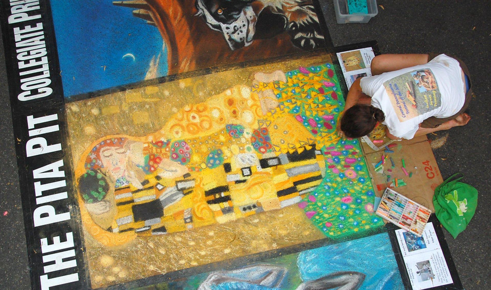 Klimt sidewalk mural 2020