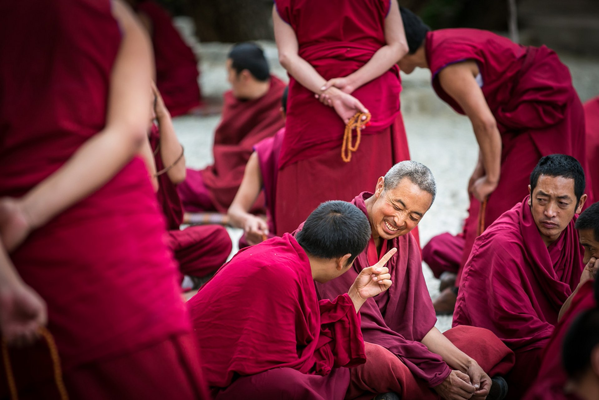 Monk Debates at Sera Monastery in Tibet - Best Season 2020