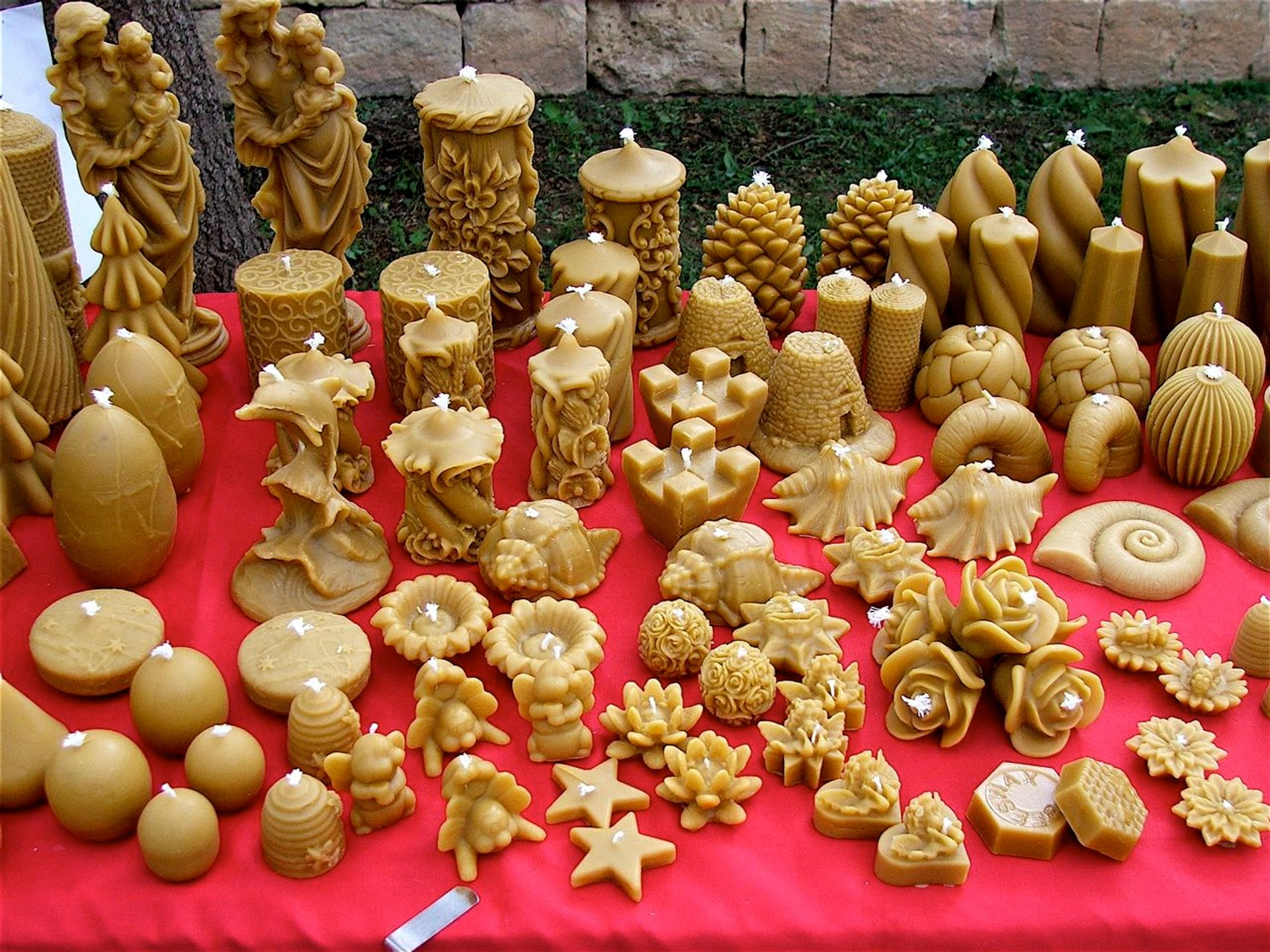 Various objects made from wax.  2020