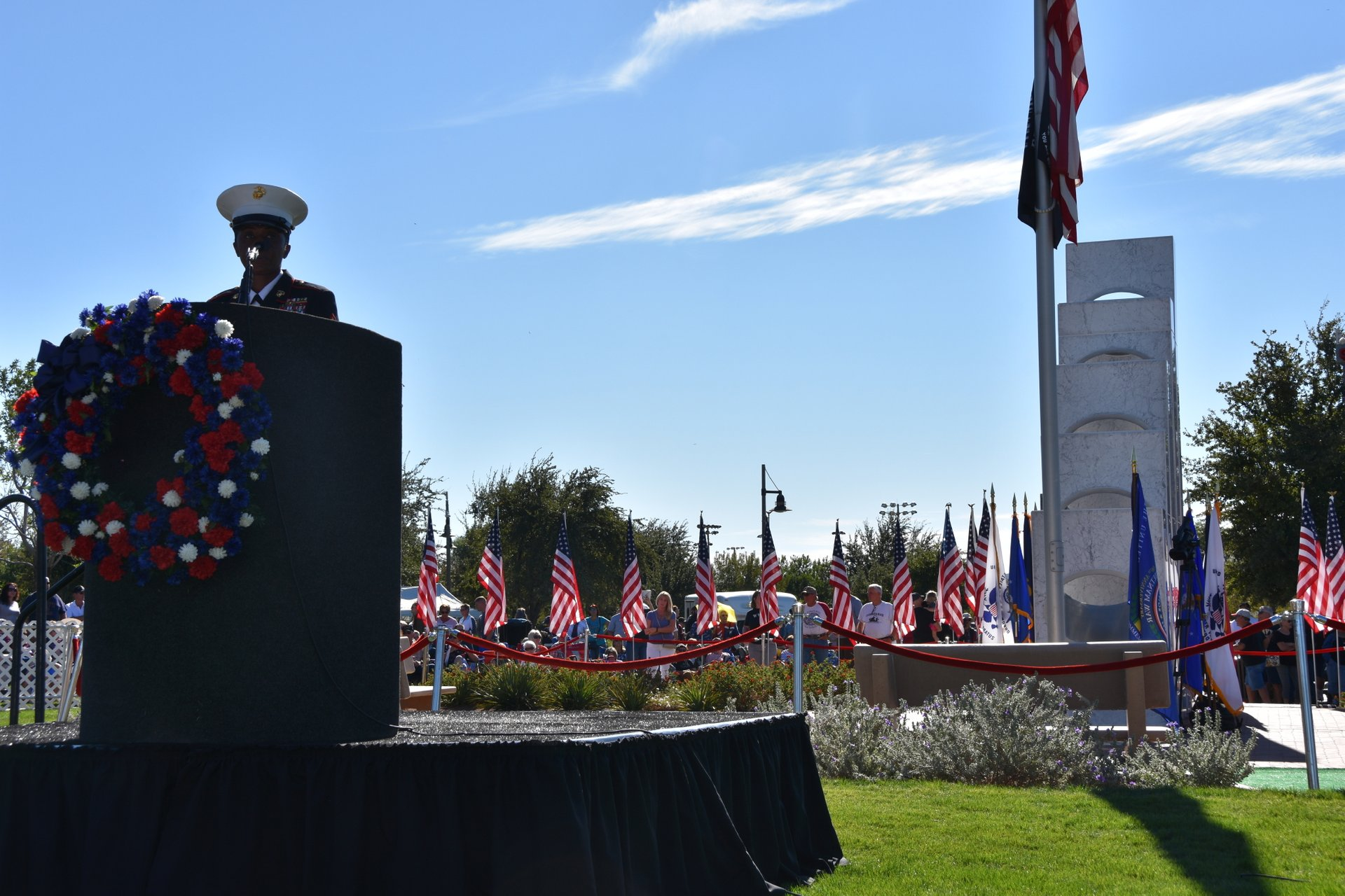 Best time for Solar Spotlight at the Anthem Veterans Memorial 2020