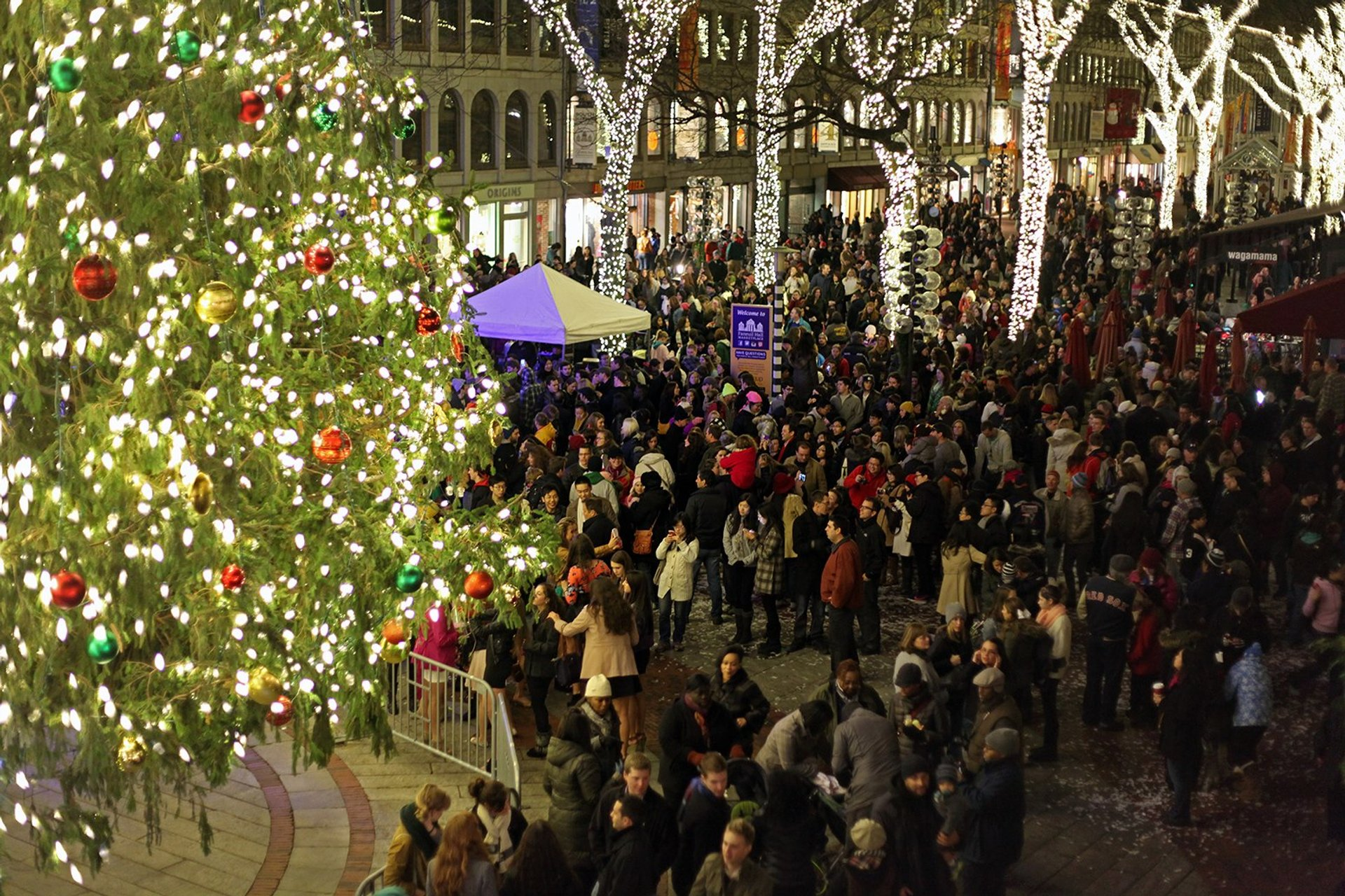Faneuil Hall Tree Lighting 2019