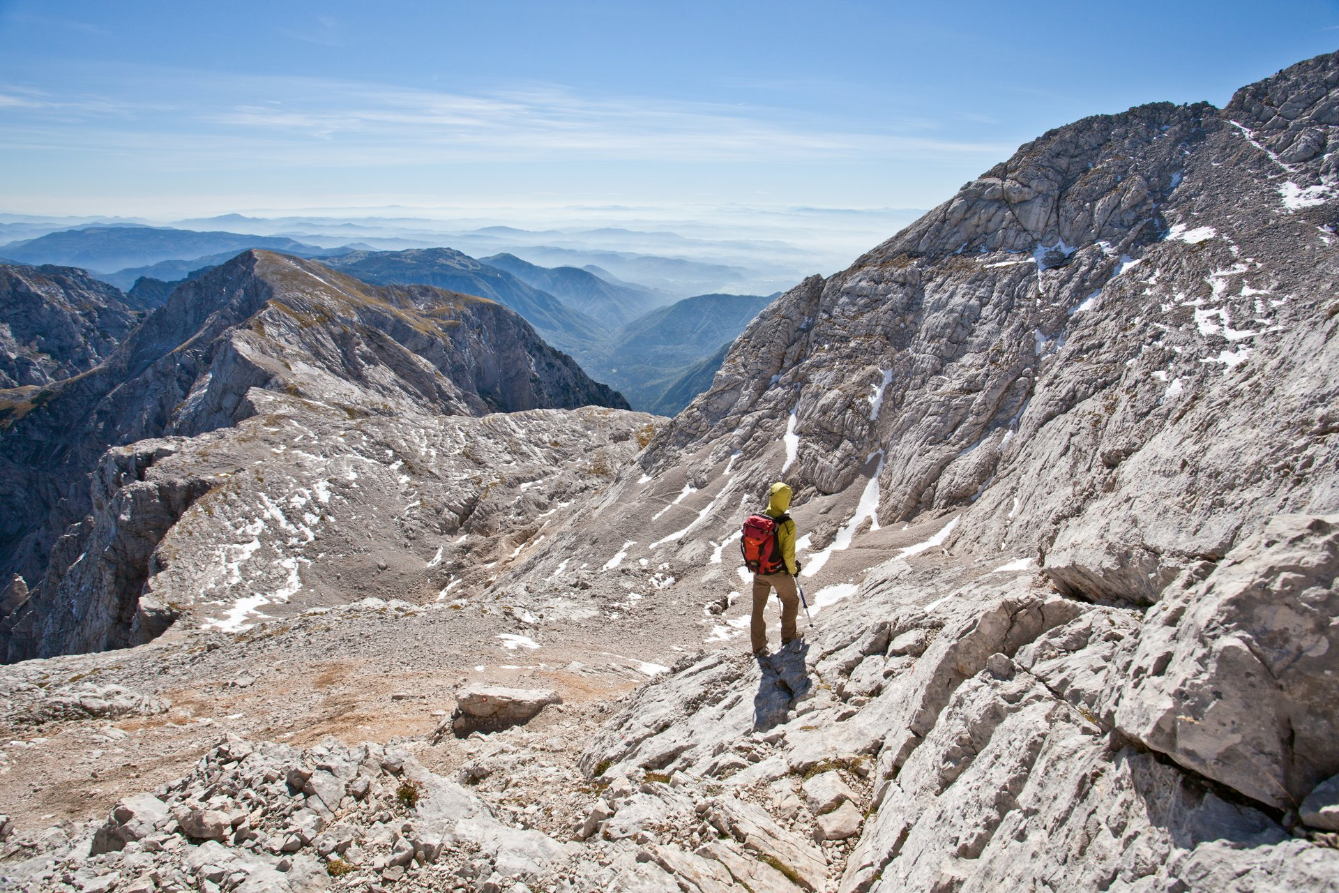 Hiker on Kamnik- Savinja Alps 2020
