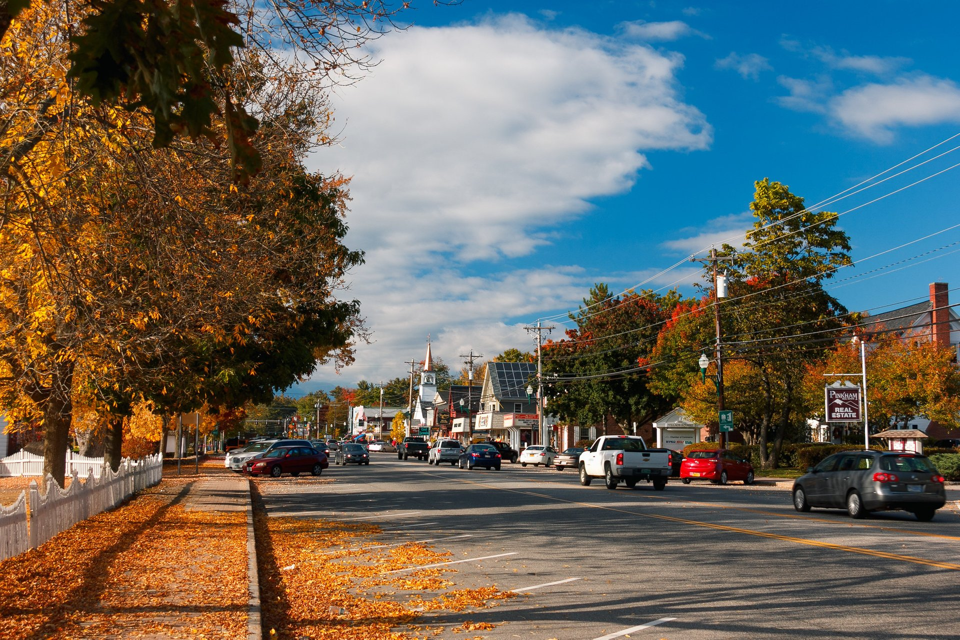 Autumn leaves in North Conway, NH 2020