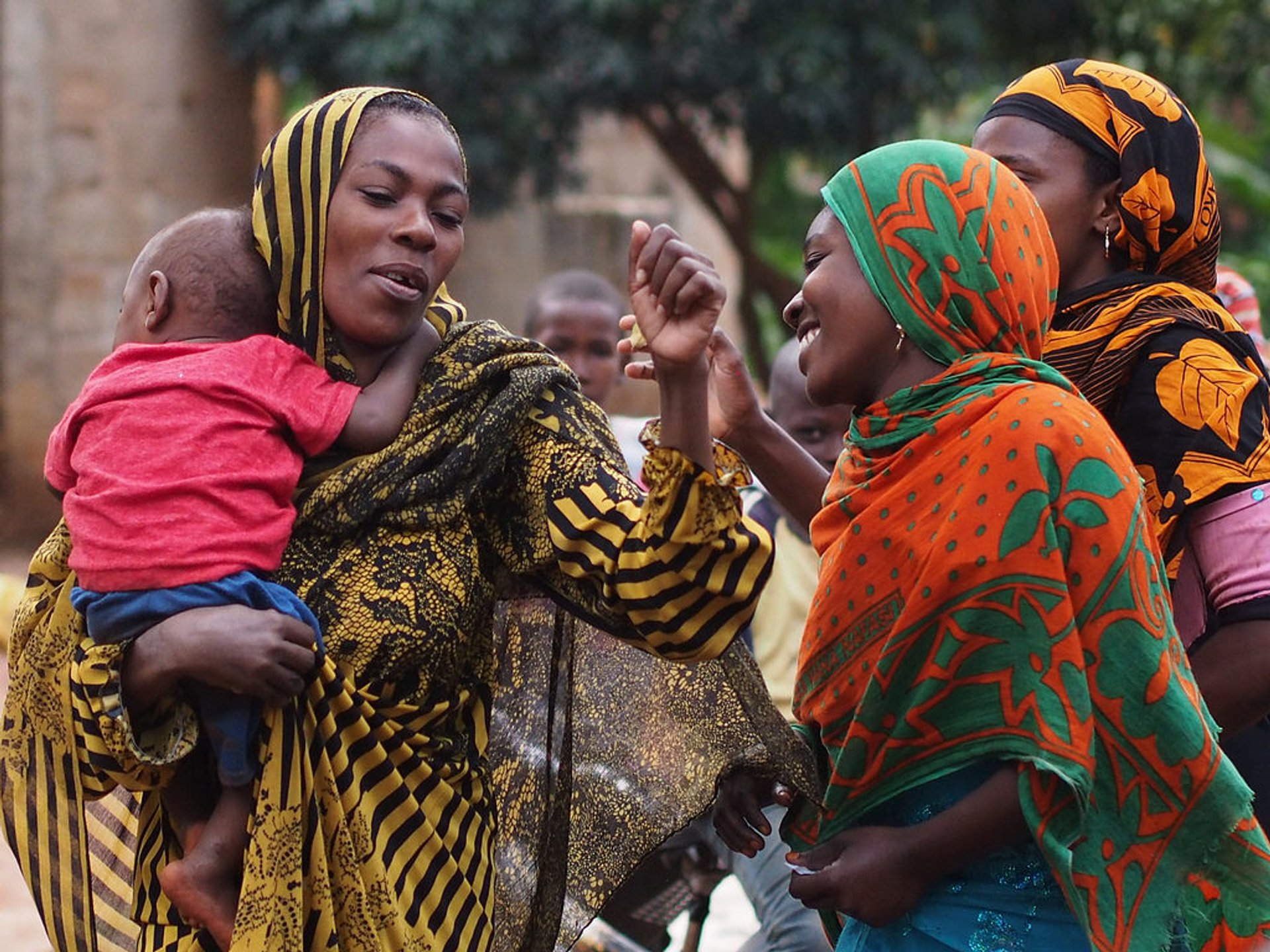 Women celebrating Eid al-Fitr in Kinyasini Village, Zanzibar, Tanzania 2020