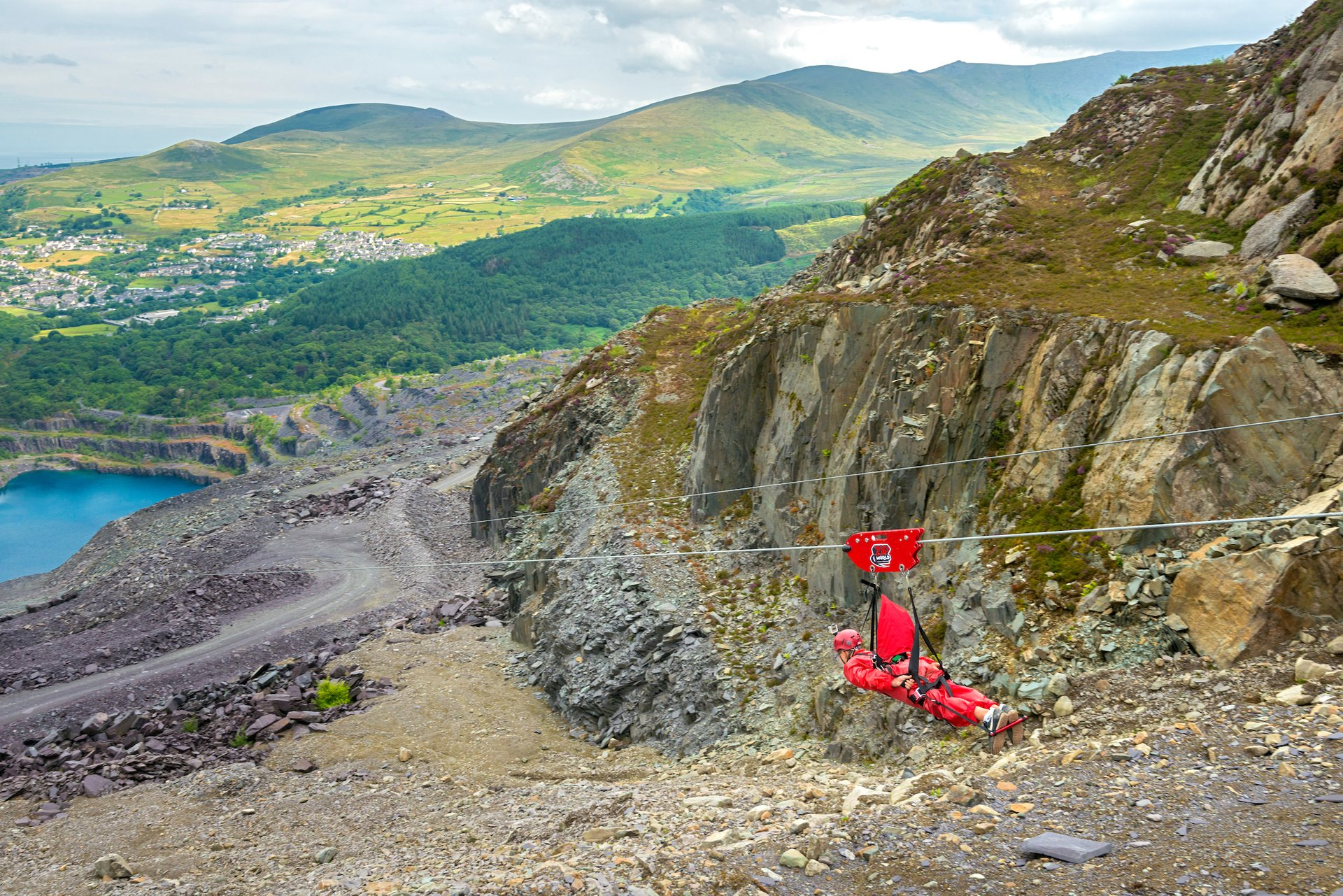 Zip Wire over Penrhyn Slate Quarry