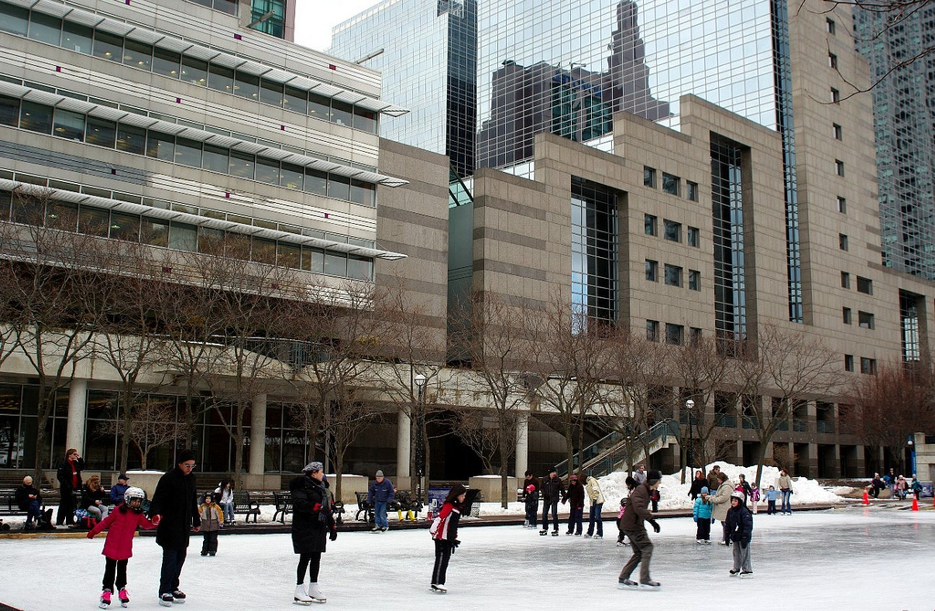 The rink in Mel Lastman Square 2020