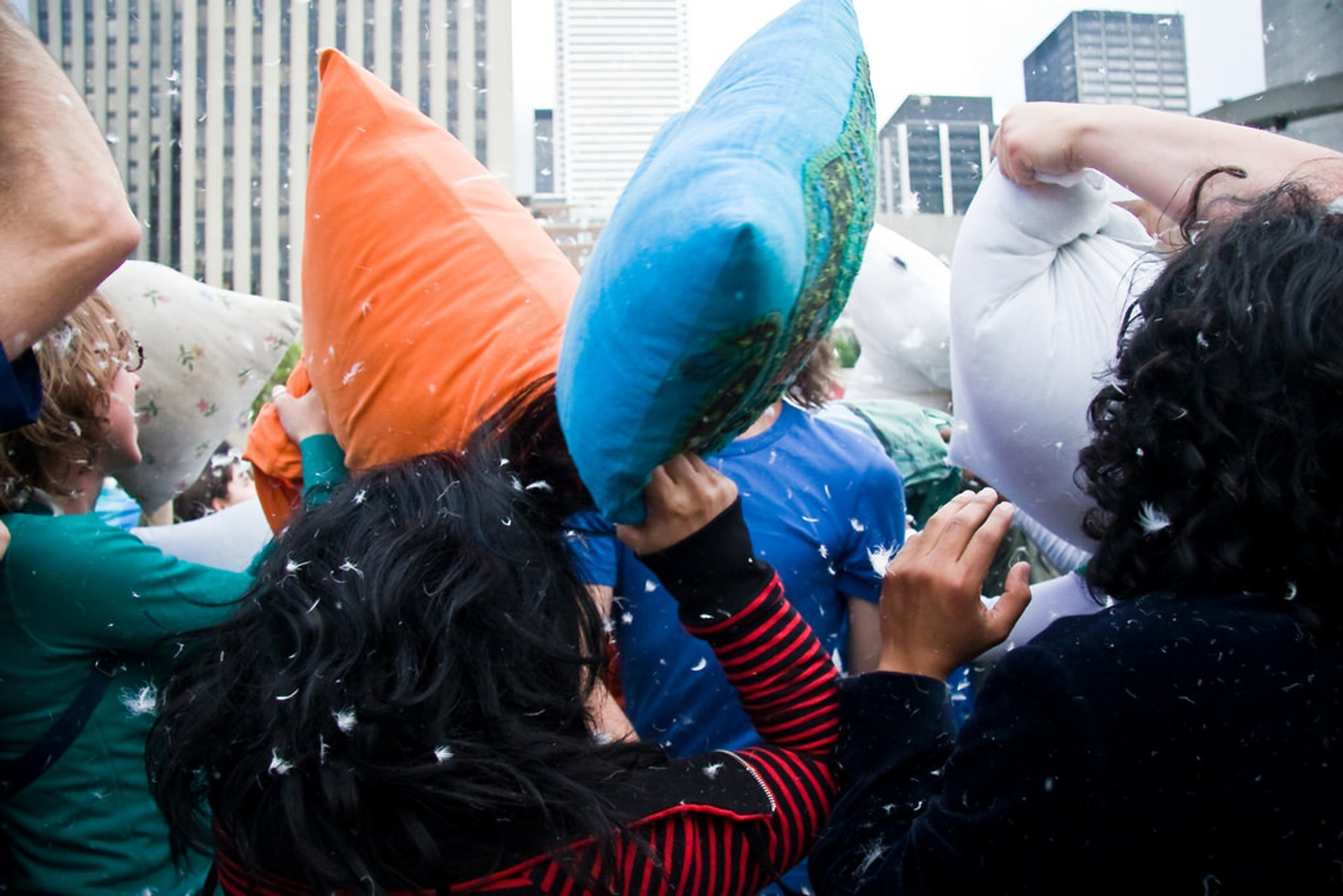 Giant Pillow Fight in Toronto - Best Season 2020