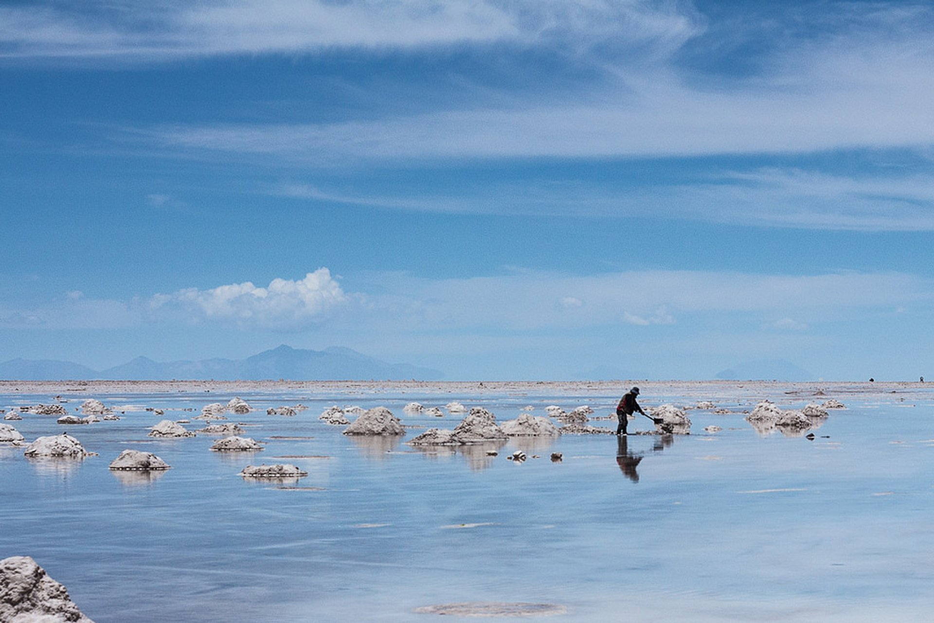 Best time for Lake at Salt Flats or Salar de Uyuni in Bolivia