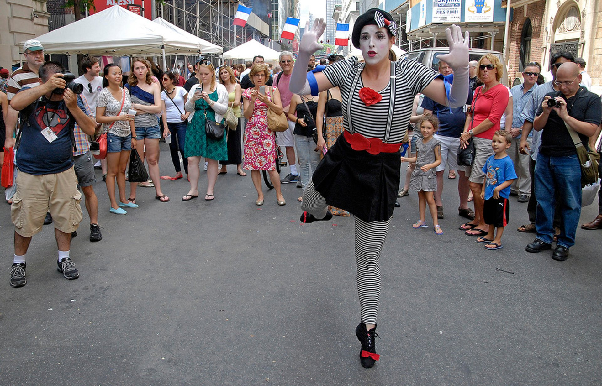 Mime at Bastille Day NYC, 60th Street  2020