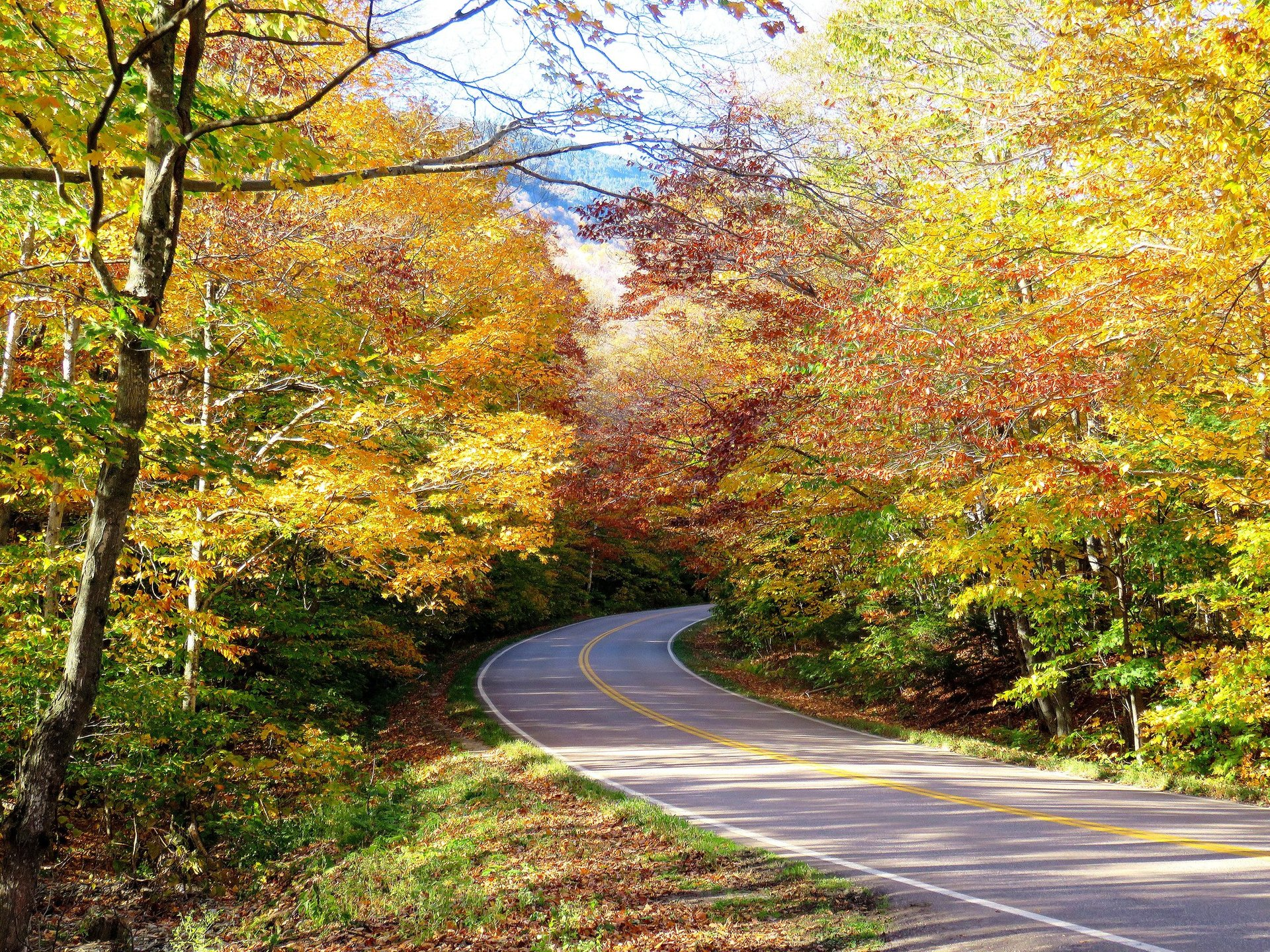 Driving in Smugglers' Notch, Vermont 2020