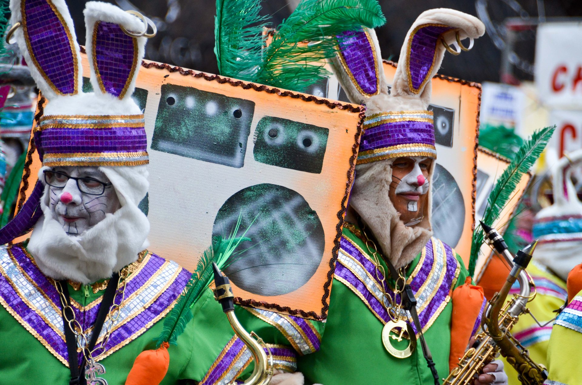 String Band Mummers at the Philadelphia Mummers Parade 2020