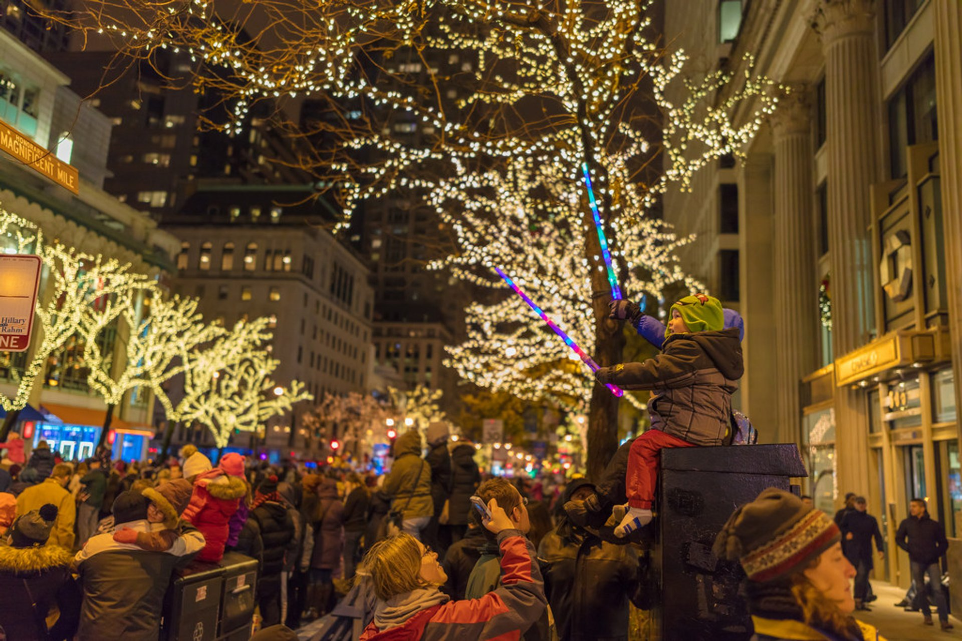 Best time for BMO Harris Magnificent Mile Lights Festival in Chicago 2020