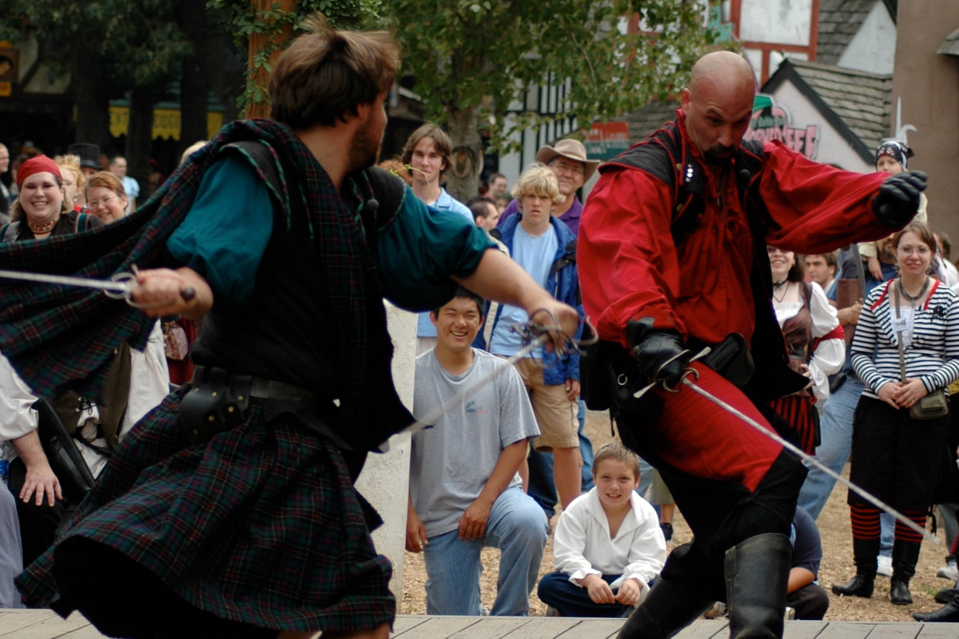 Swordplay at the Maryland Renaissance Festival. 2020