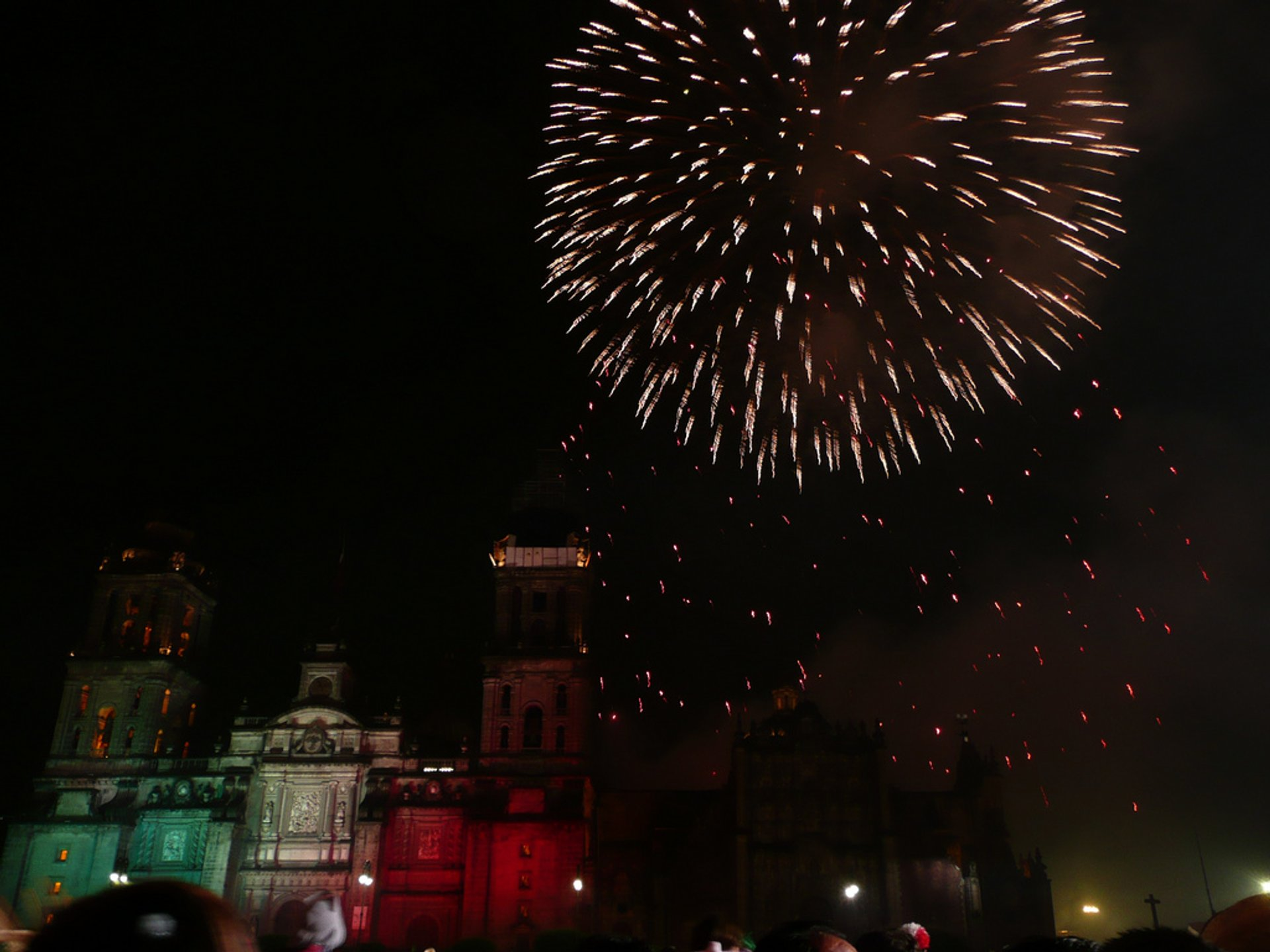Independence Day fireworks in Mexico City 2020