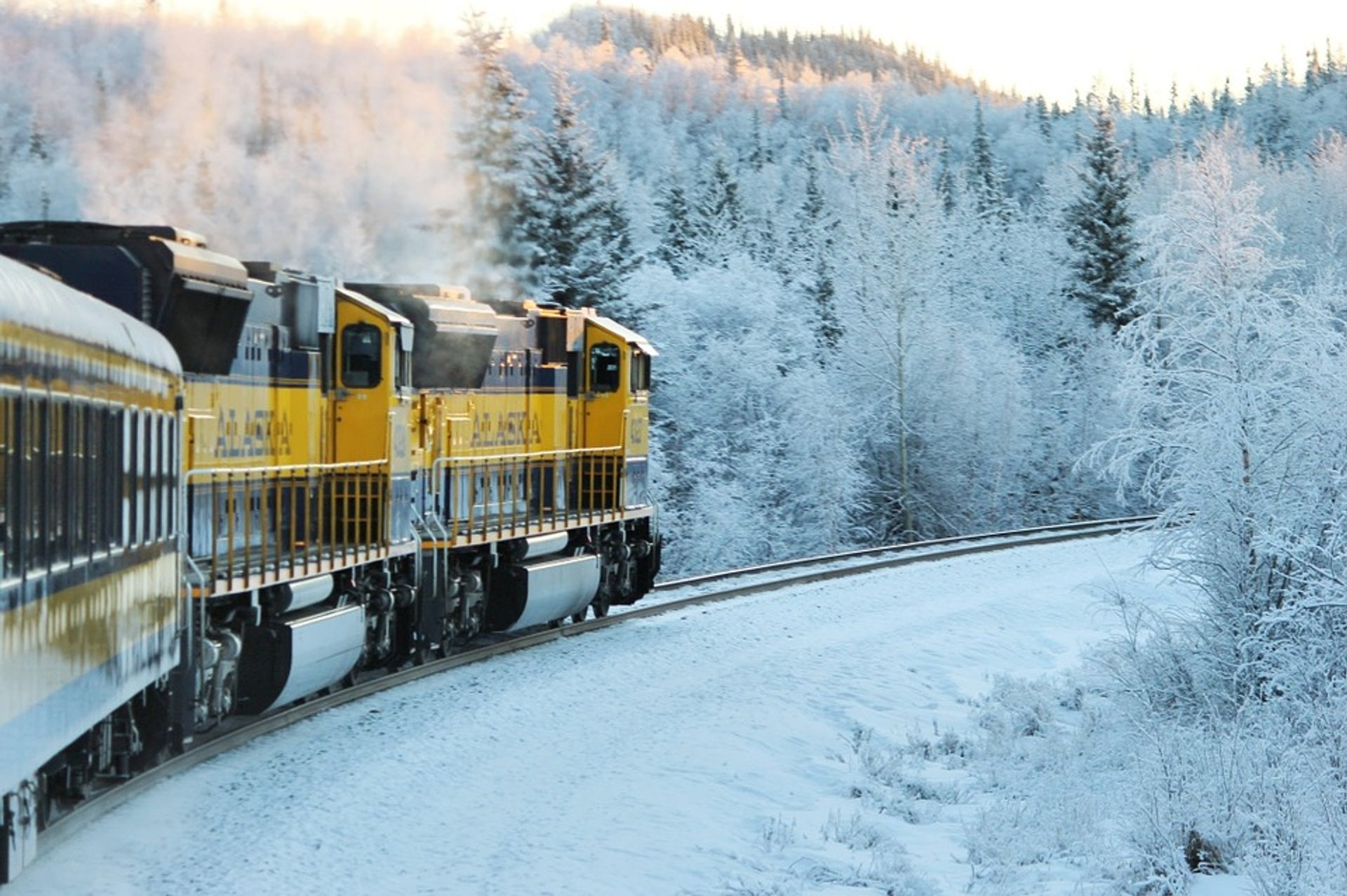 Winter Railroad Trip in Alaska 2020 - Best Time