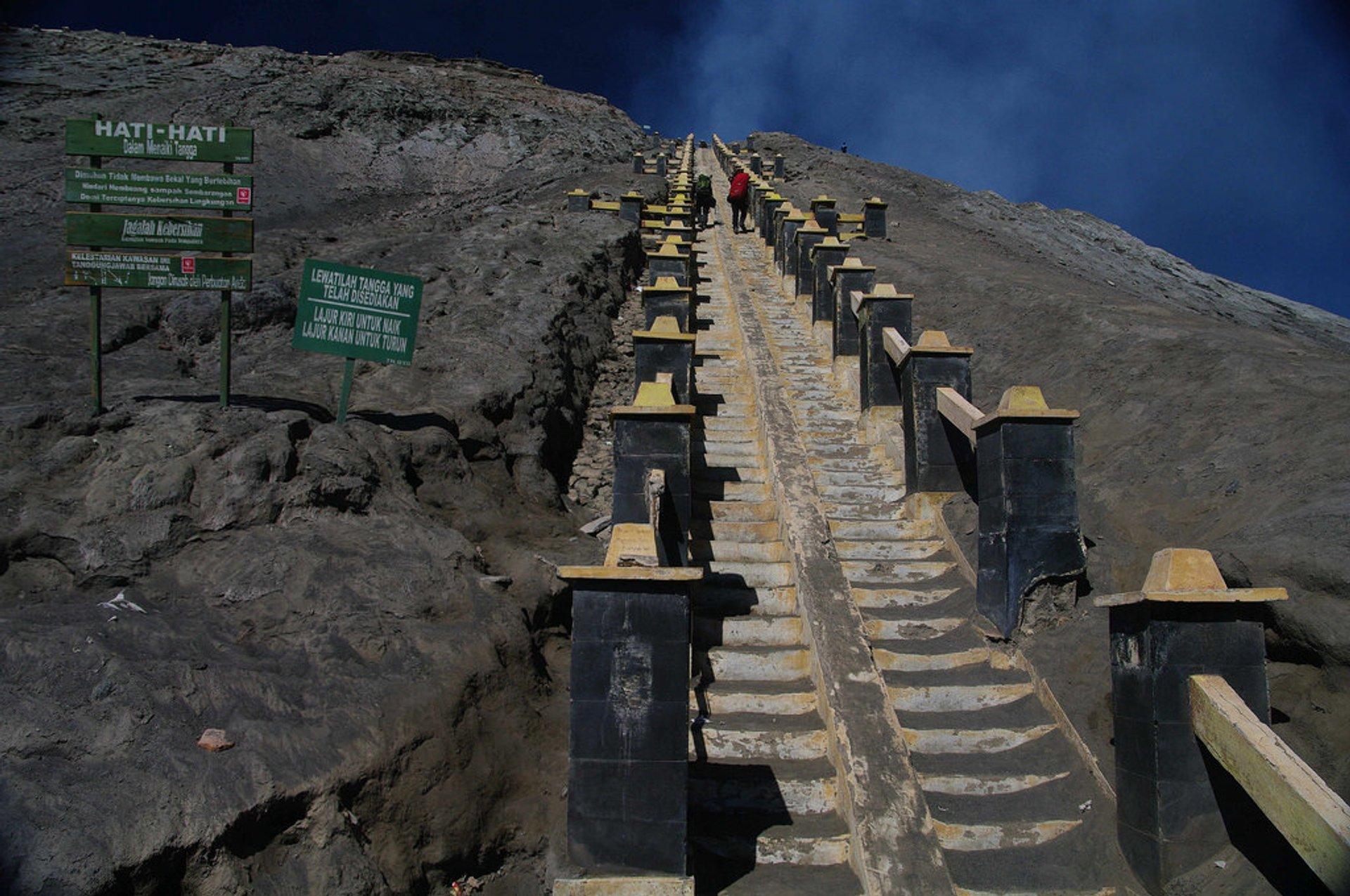 Steps up Mount Bromo 2020